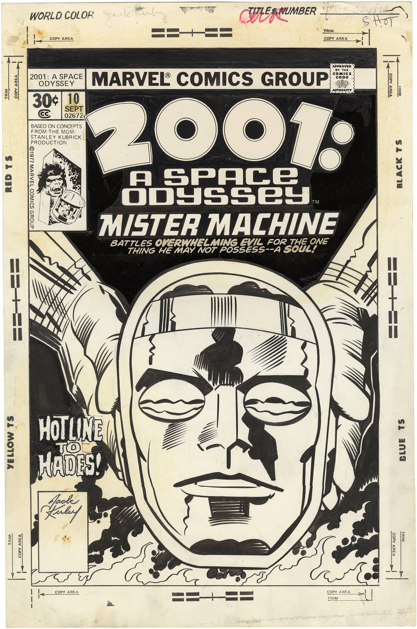 2001: A Space Odyssey #10 Cover (Signed)