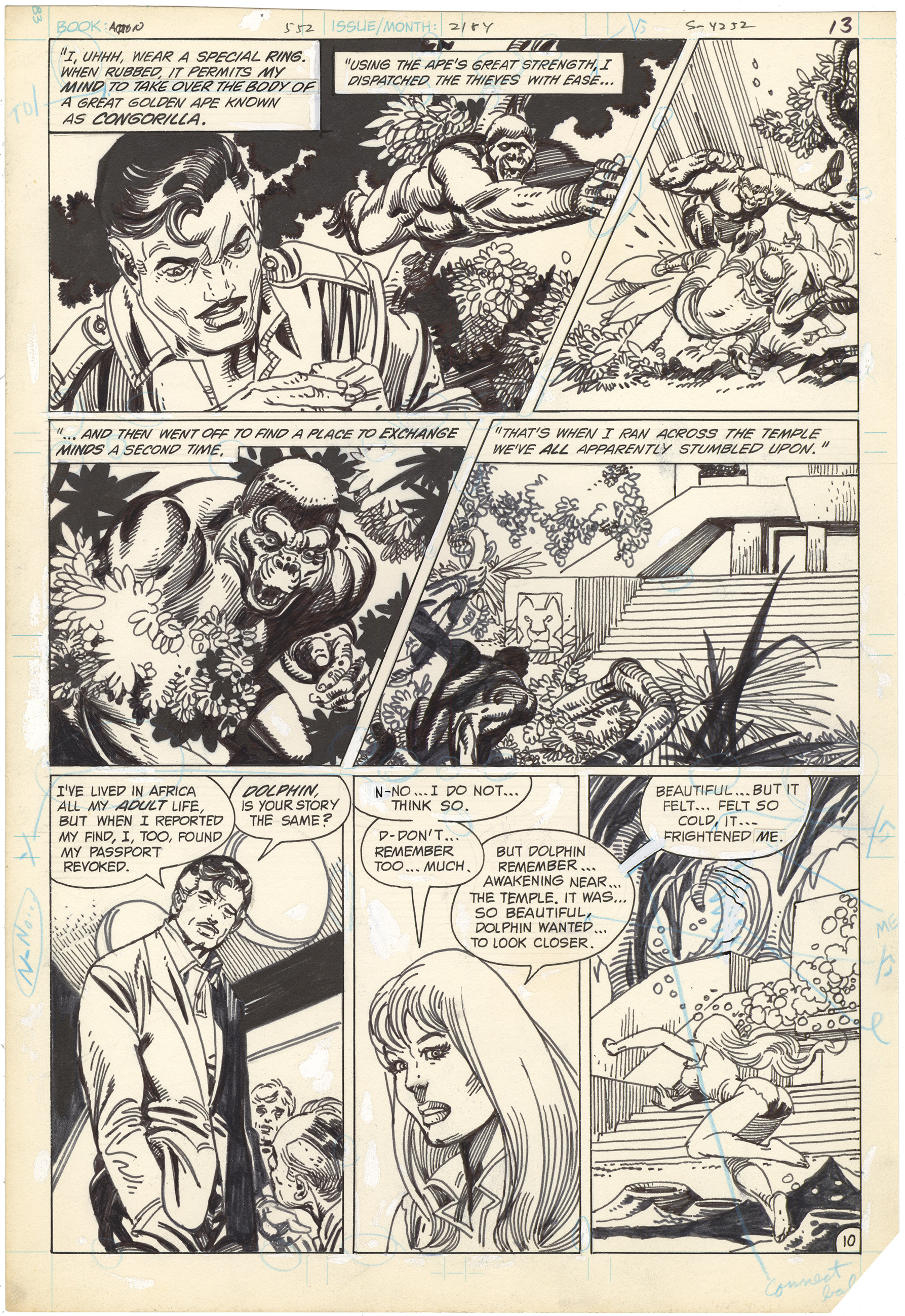 Action Comics #552 p10 (Dolphin+Congorilla)