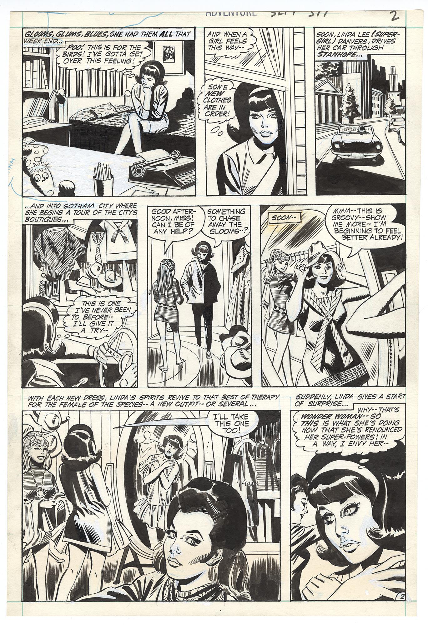 Adventure Comics #397 p2 (Supergirl and Wonder Woman)