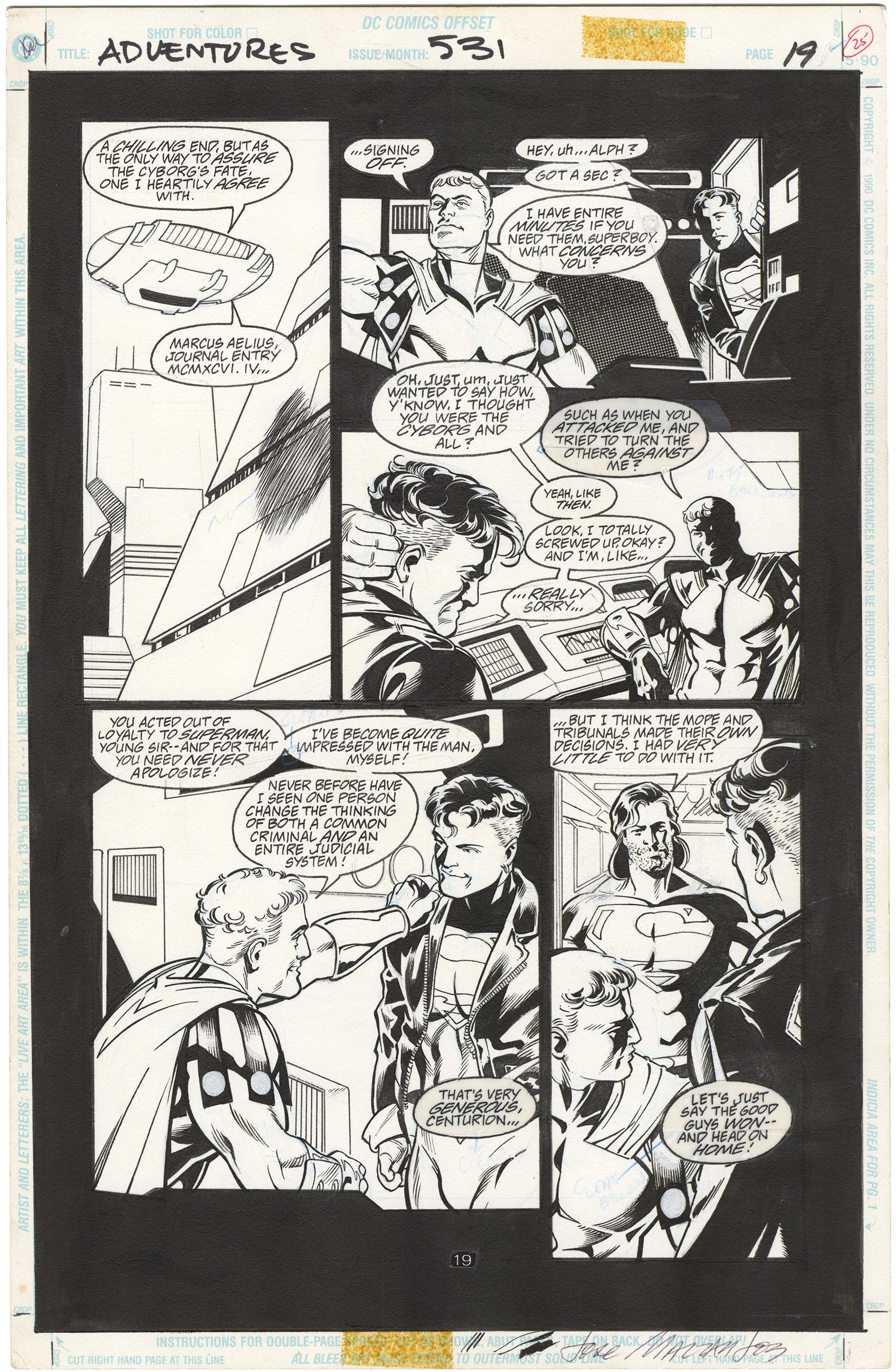 Adventures of Superman #531 p19