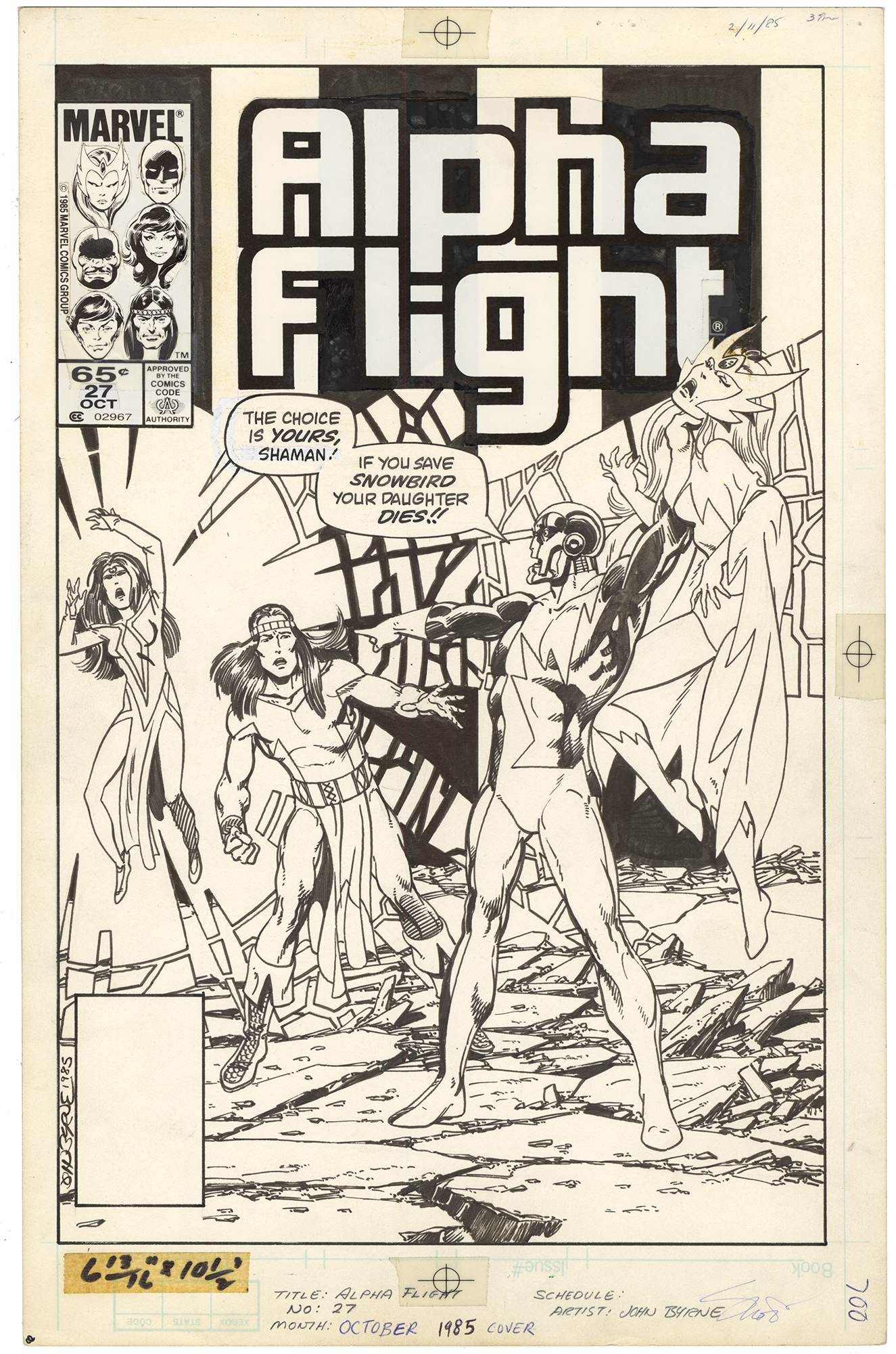 Alpha Flight #27 Cover