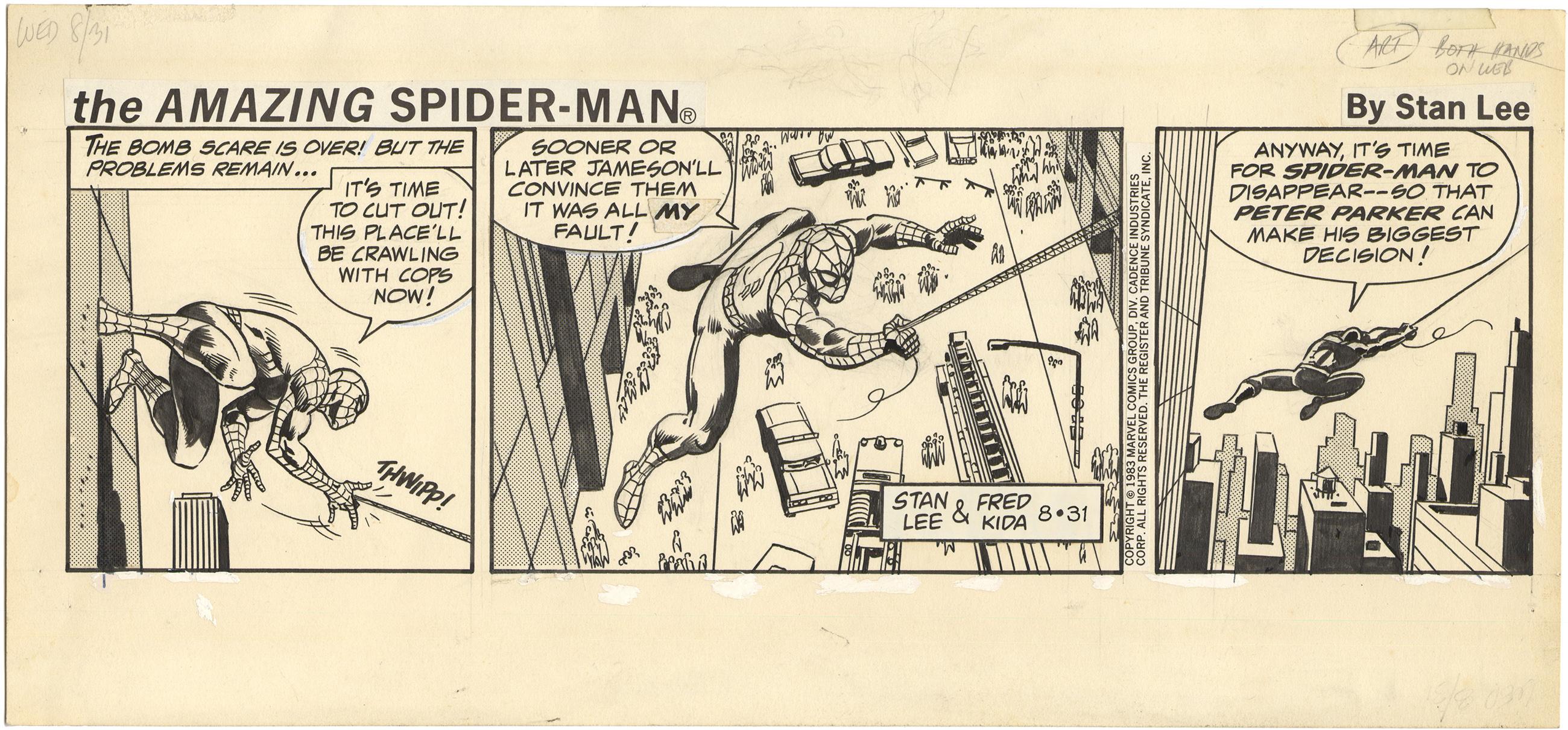 Amazing Spider-Man Strip (8/31/1983)