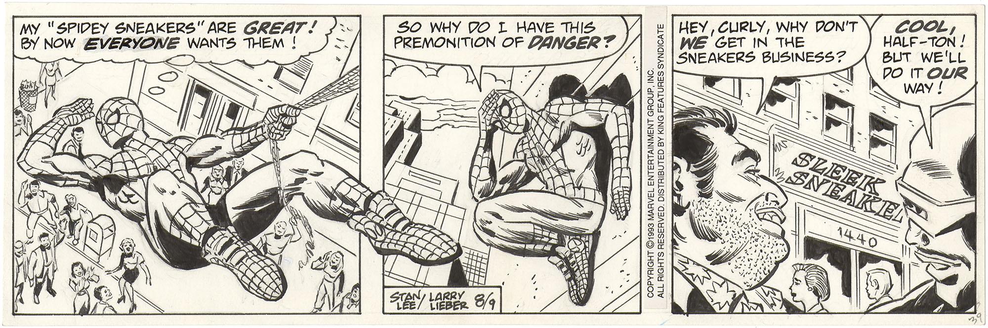 Amazing Spider-Man, Comic Strip, 8/9/93