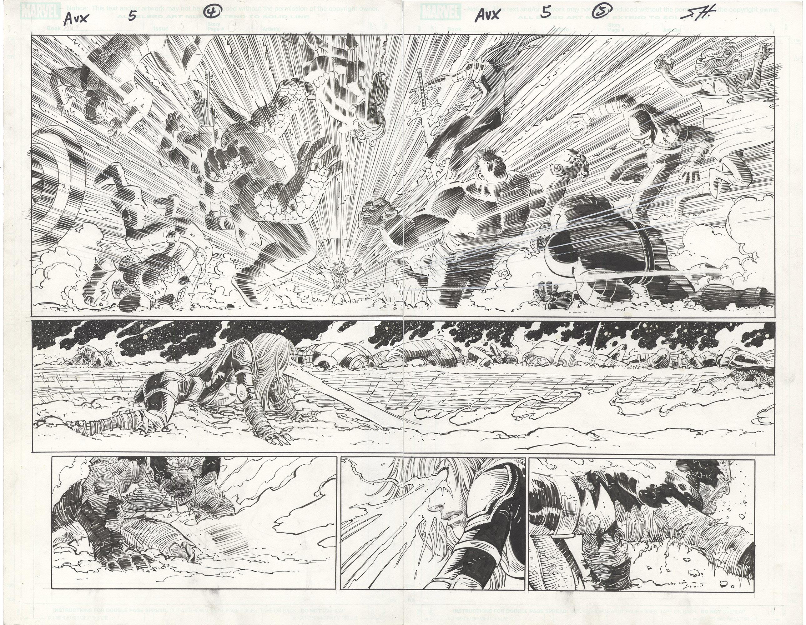 Avengers vs. X-Men #5 p4-5