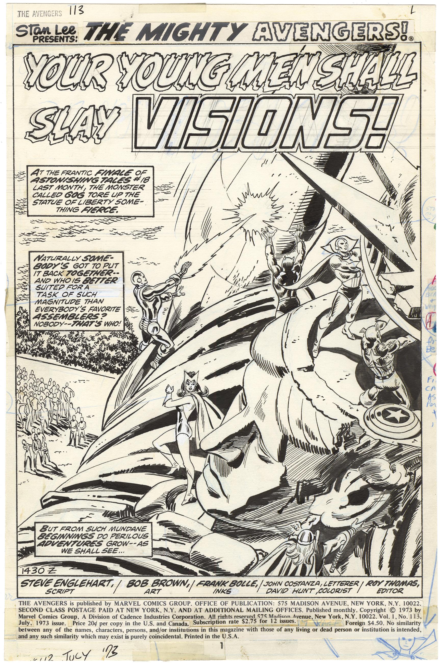Avengers #113 p1