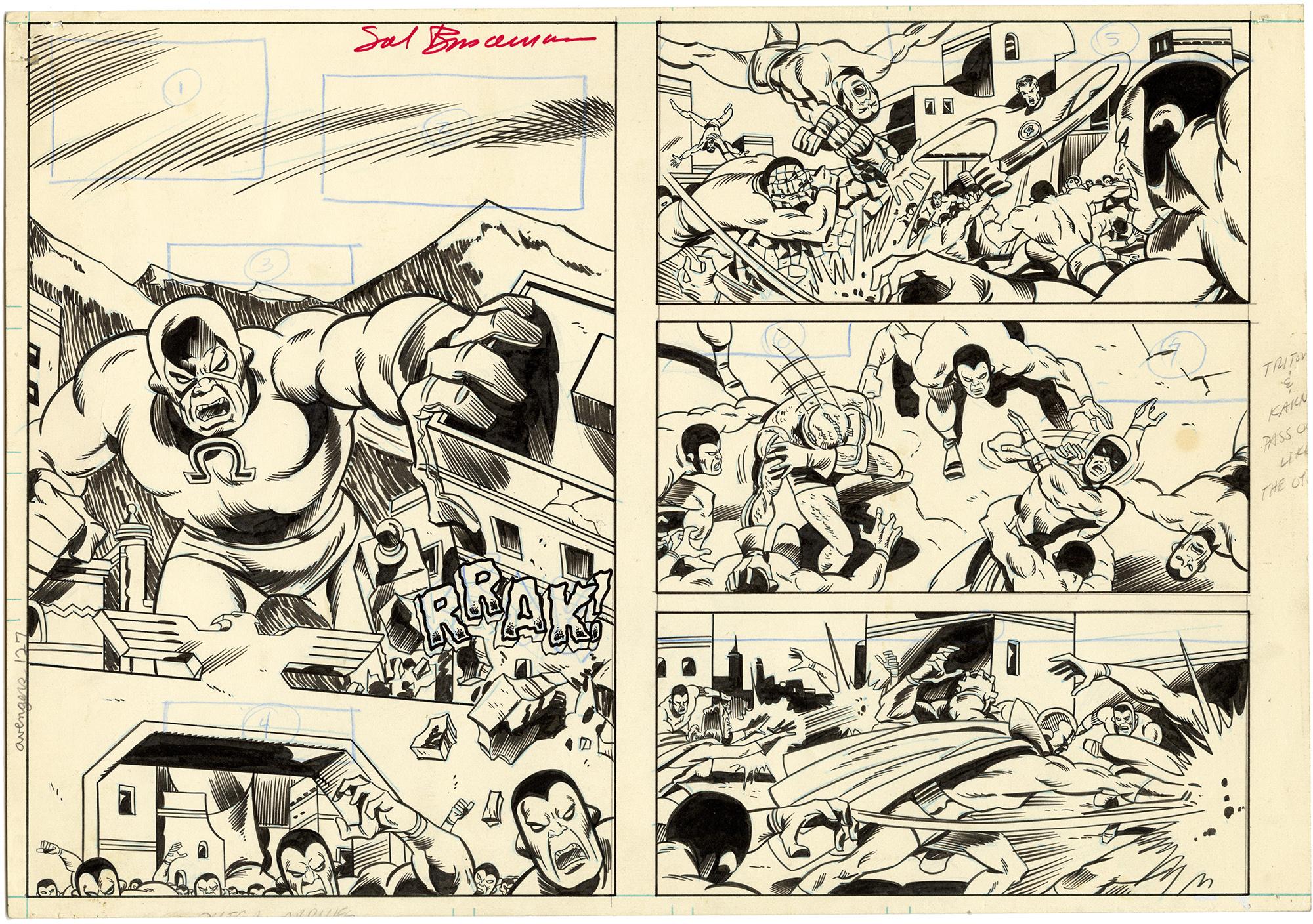 Avengers #127 p15-16 (Signed)