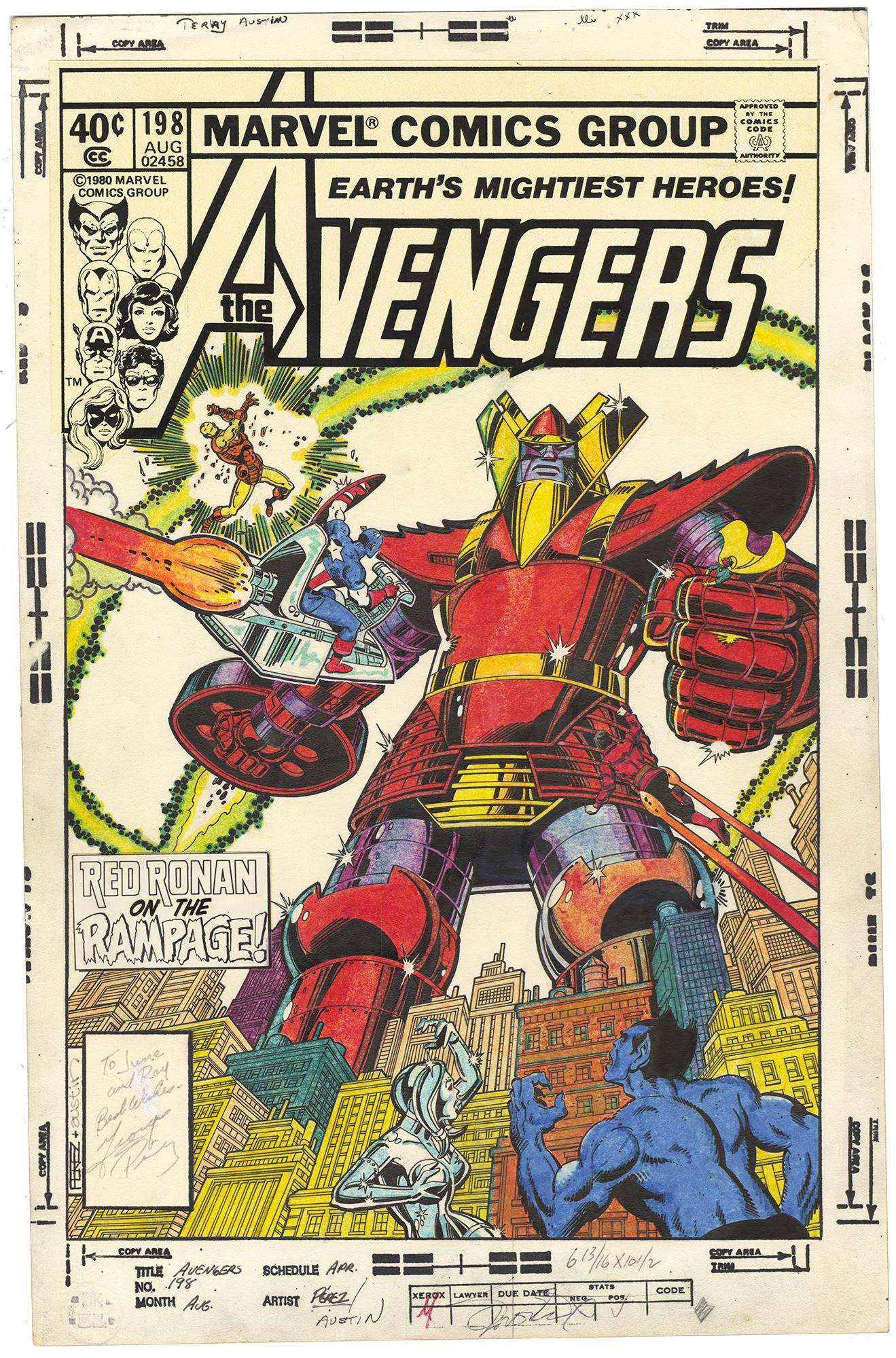 Avengers #198 Cover