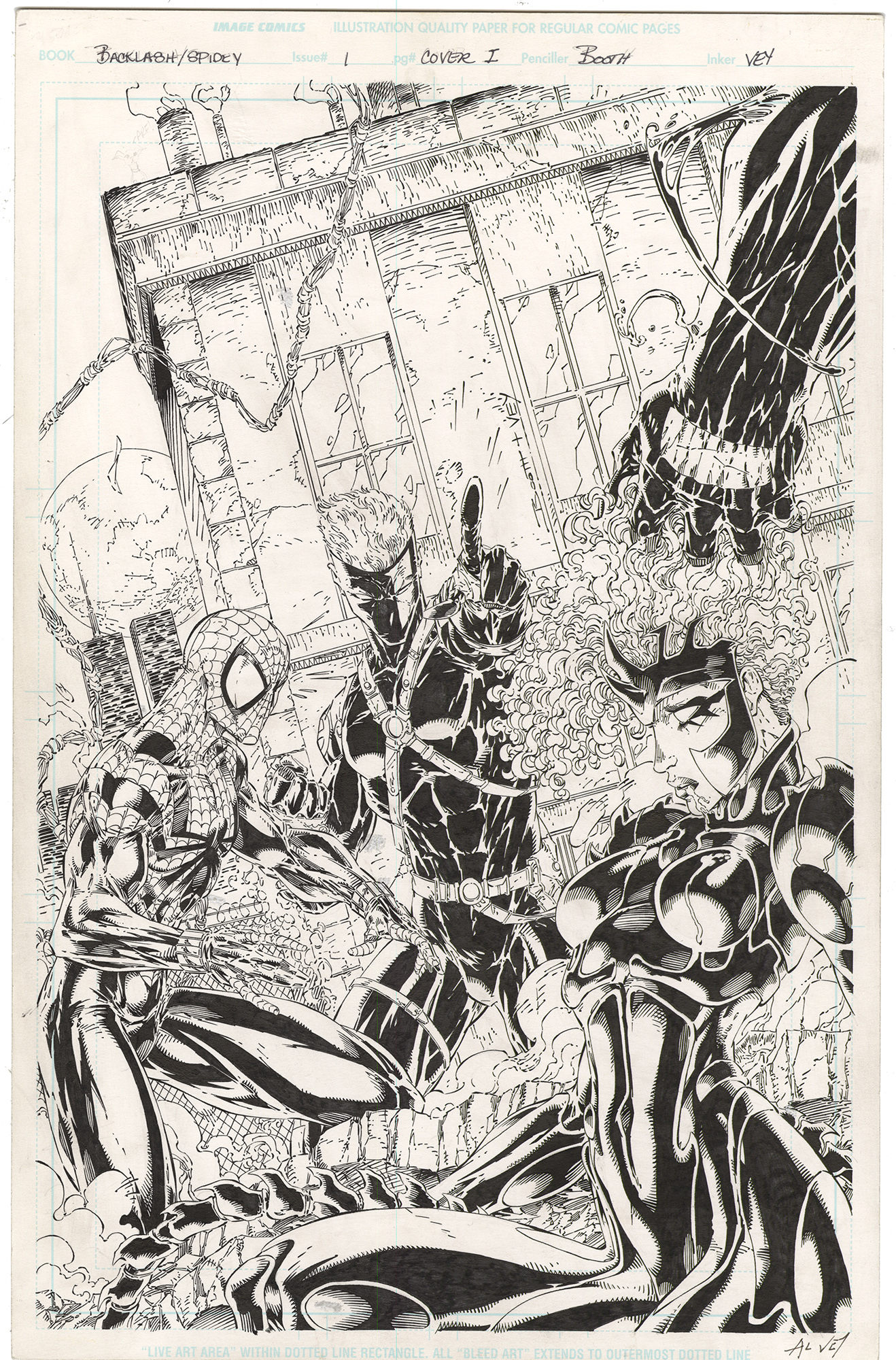 Backlash/Spidey #1 Variant Cover