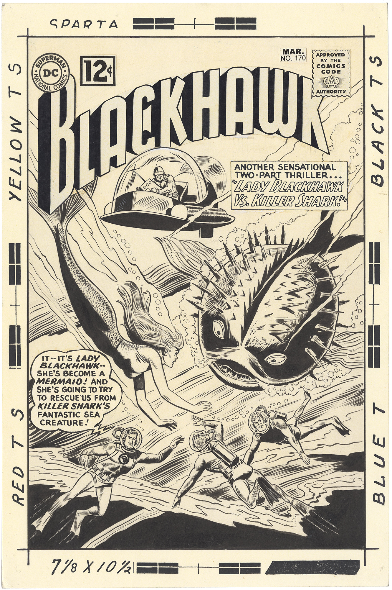 Blackhawk #170 Cover (Large Art)