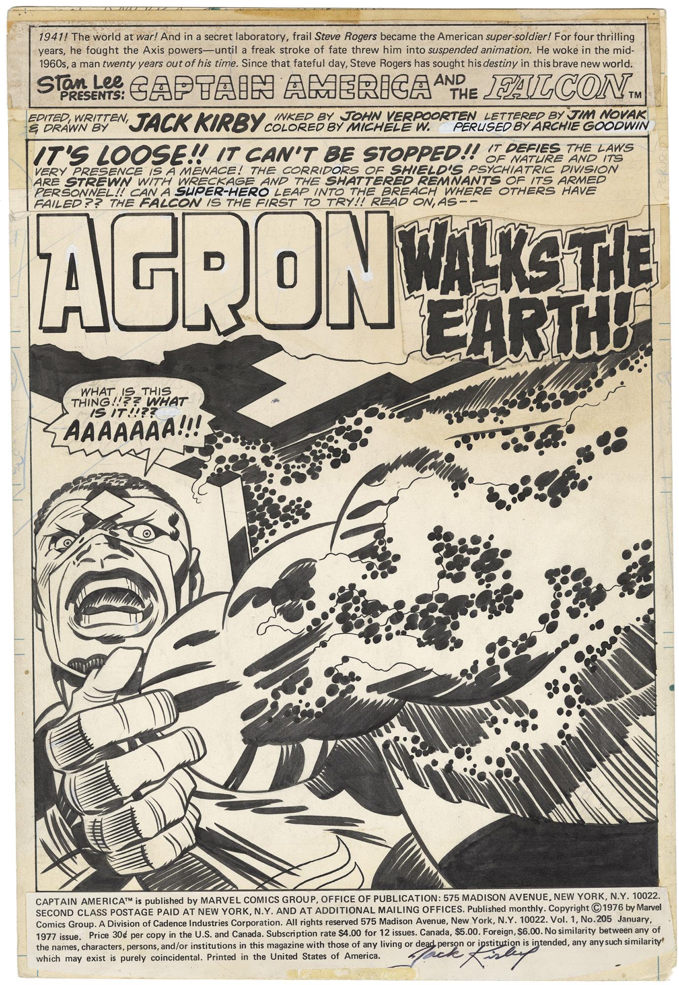 Captain America #205 p1