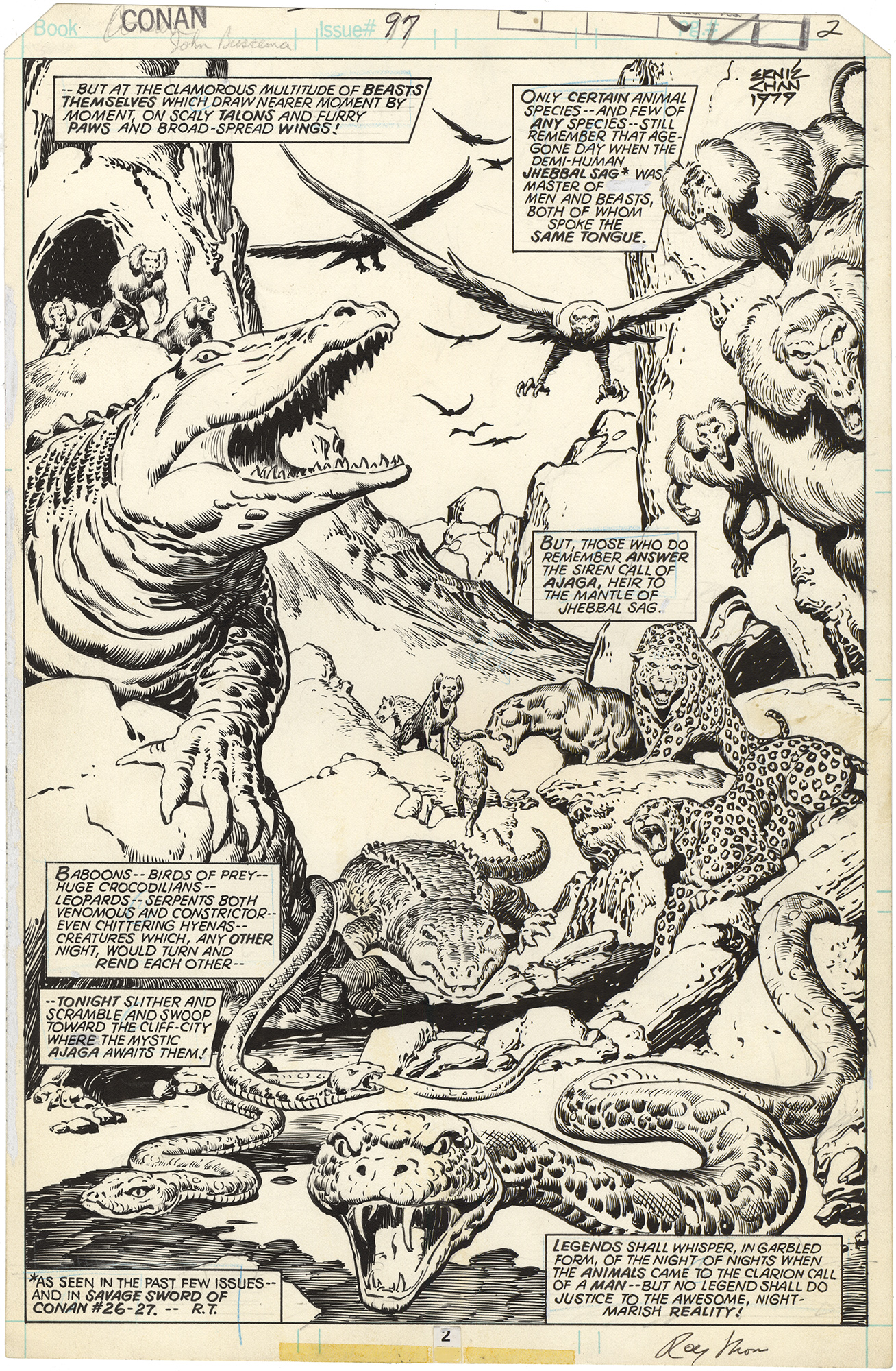 Conan the Barbarian #97 p2 (Signed Splash)