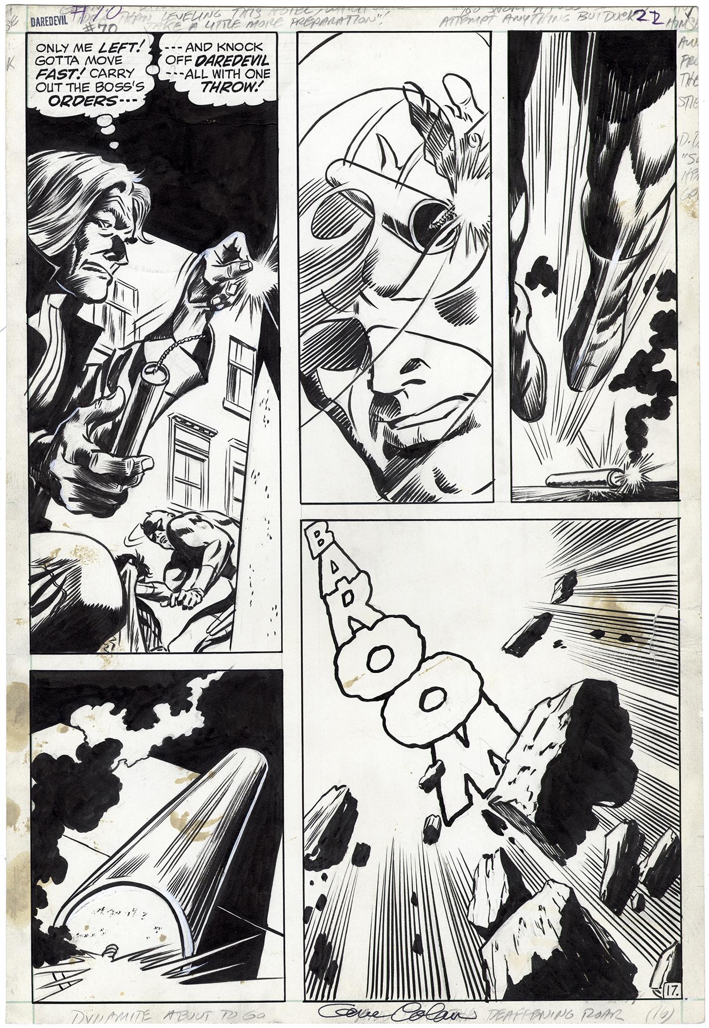 Daredevil #70 p17 (Signed)