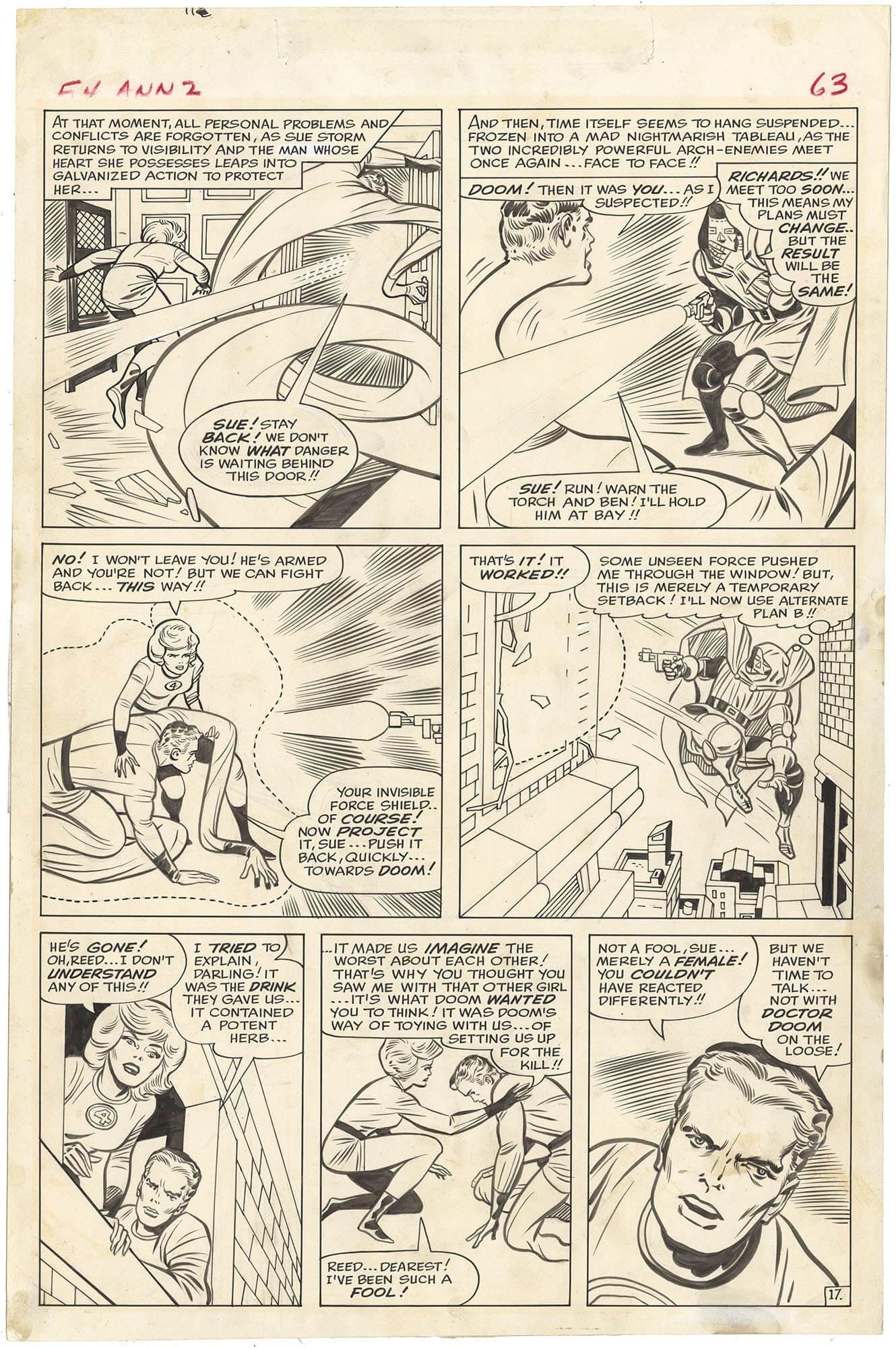 Fantastic Four Annual #2 p17 (Large Art)