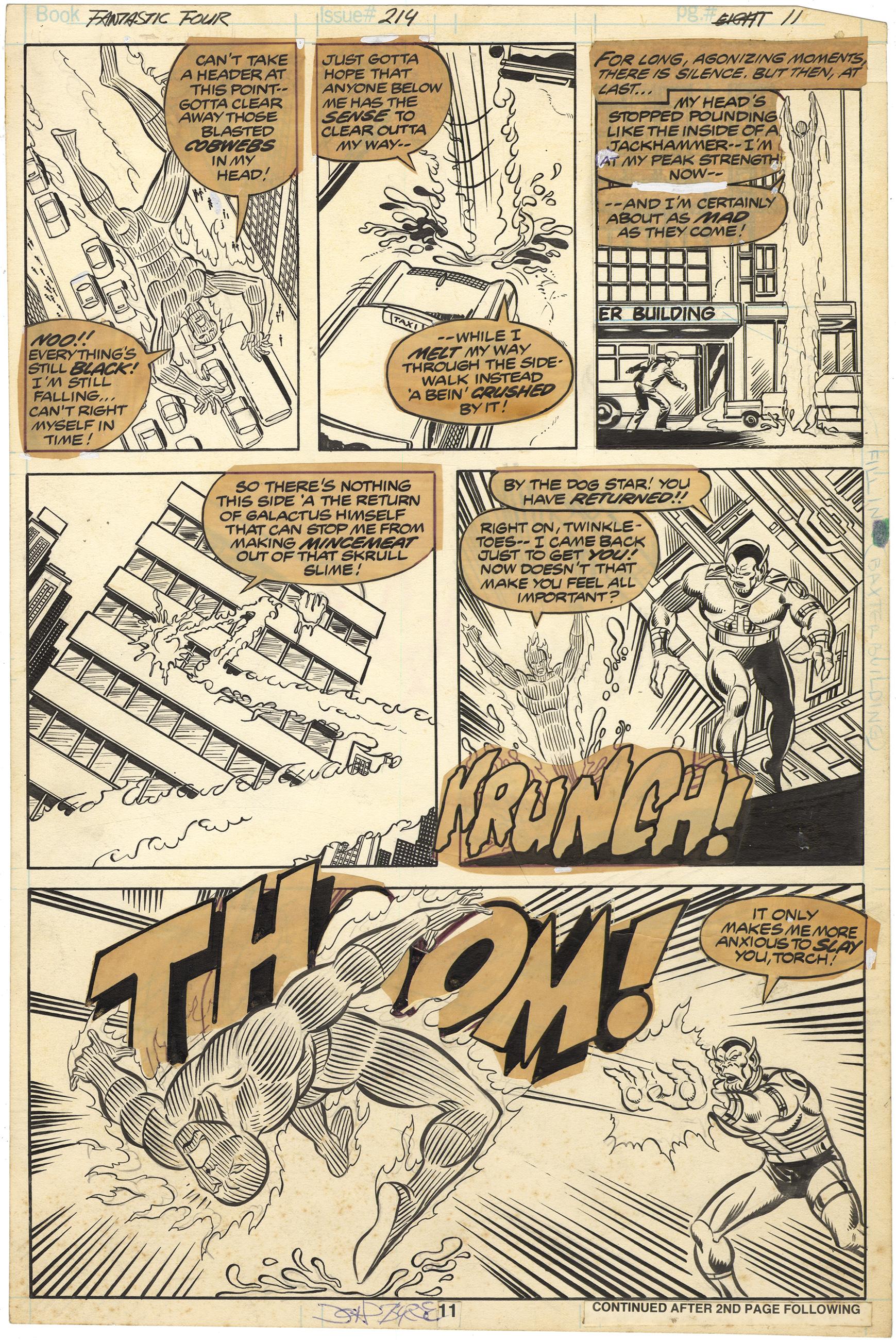 Fantastic Four #214 p11 (Signed)