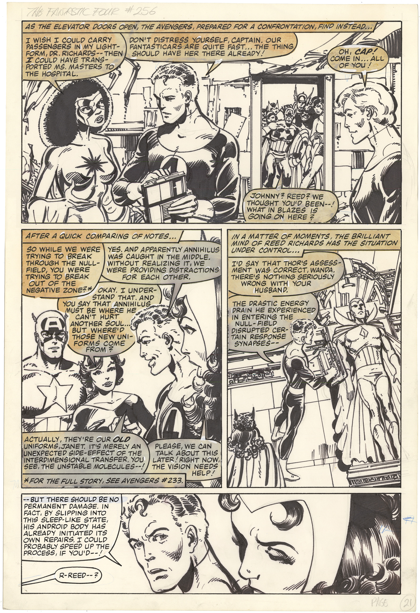 Fantastic Four #256 p21 (Large Art)