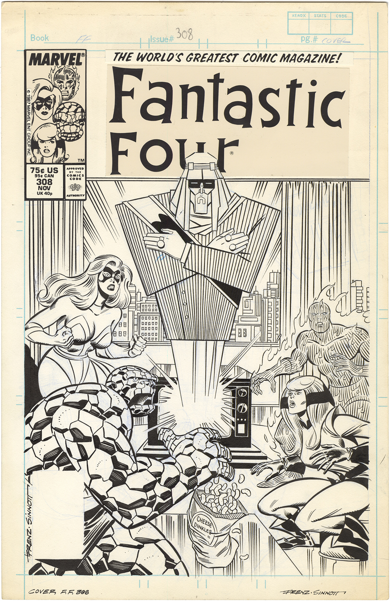 Fantastic Four #308 Cover