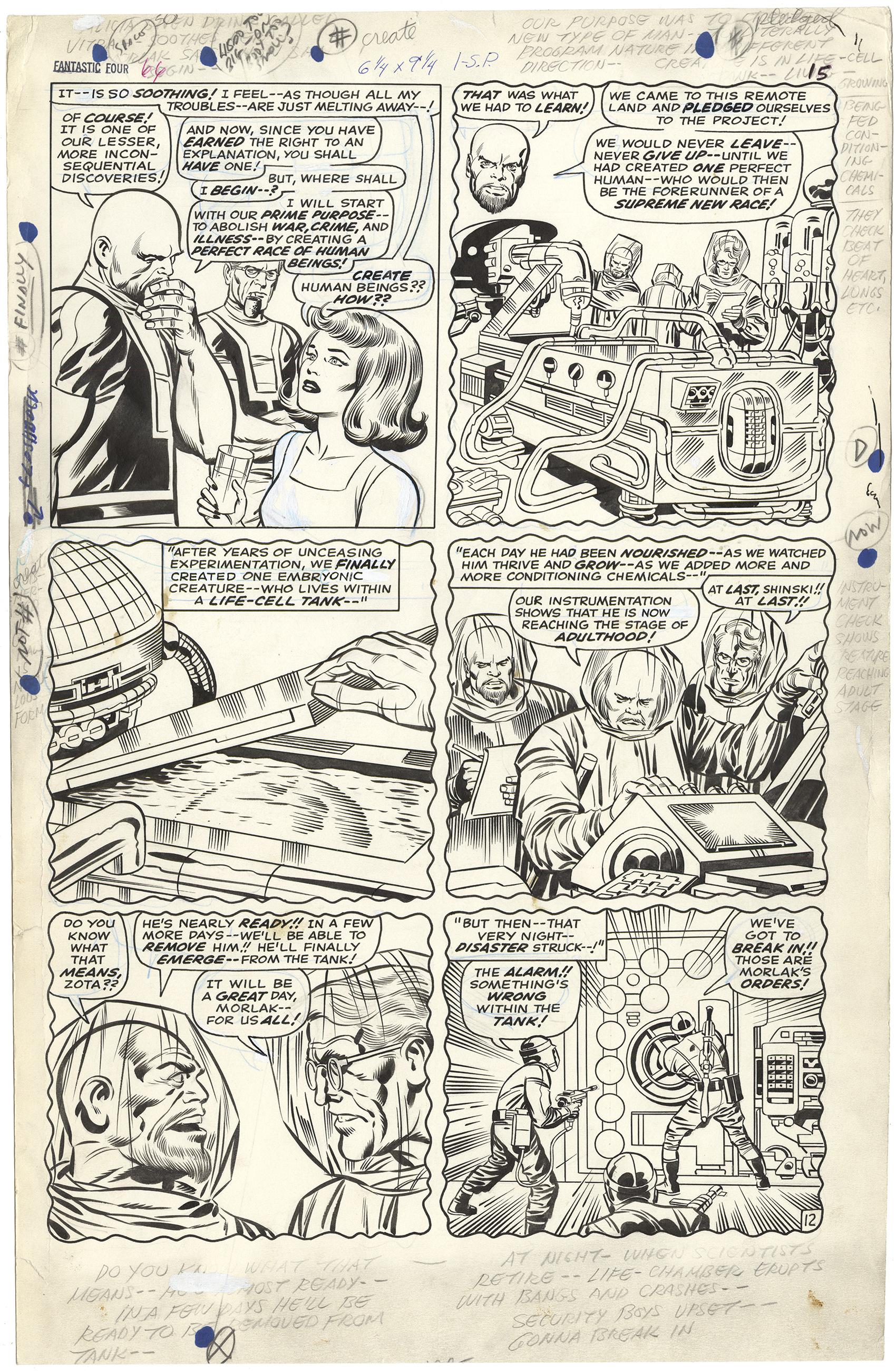 Fantastic Four #66 p12 (Origin Warlock-Large Art)