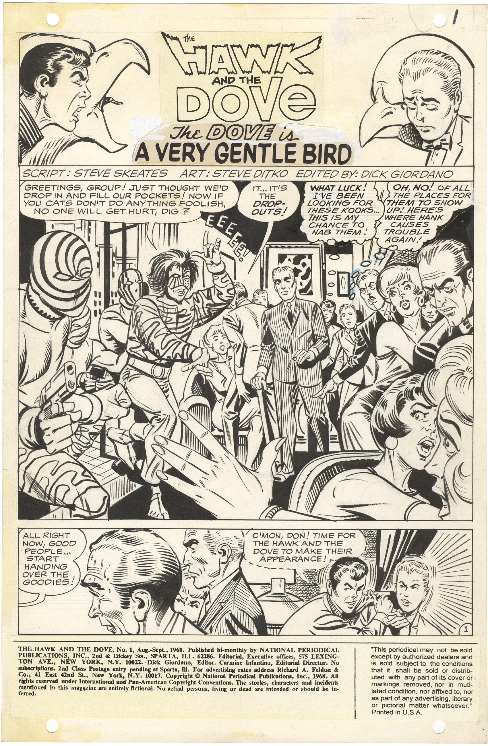 Hawk and Dove #1 p1 (Splash)