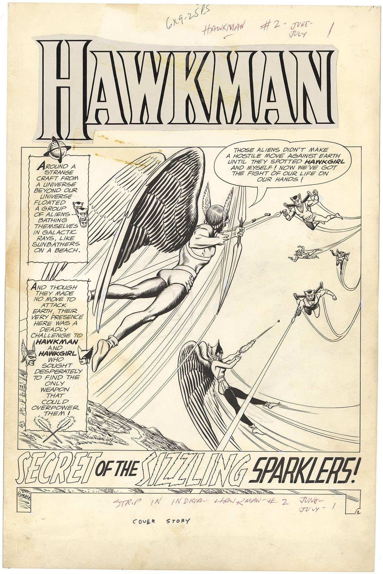 Hawkman #2 p1 (Splash-Large Art)