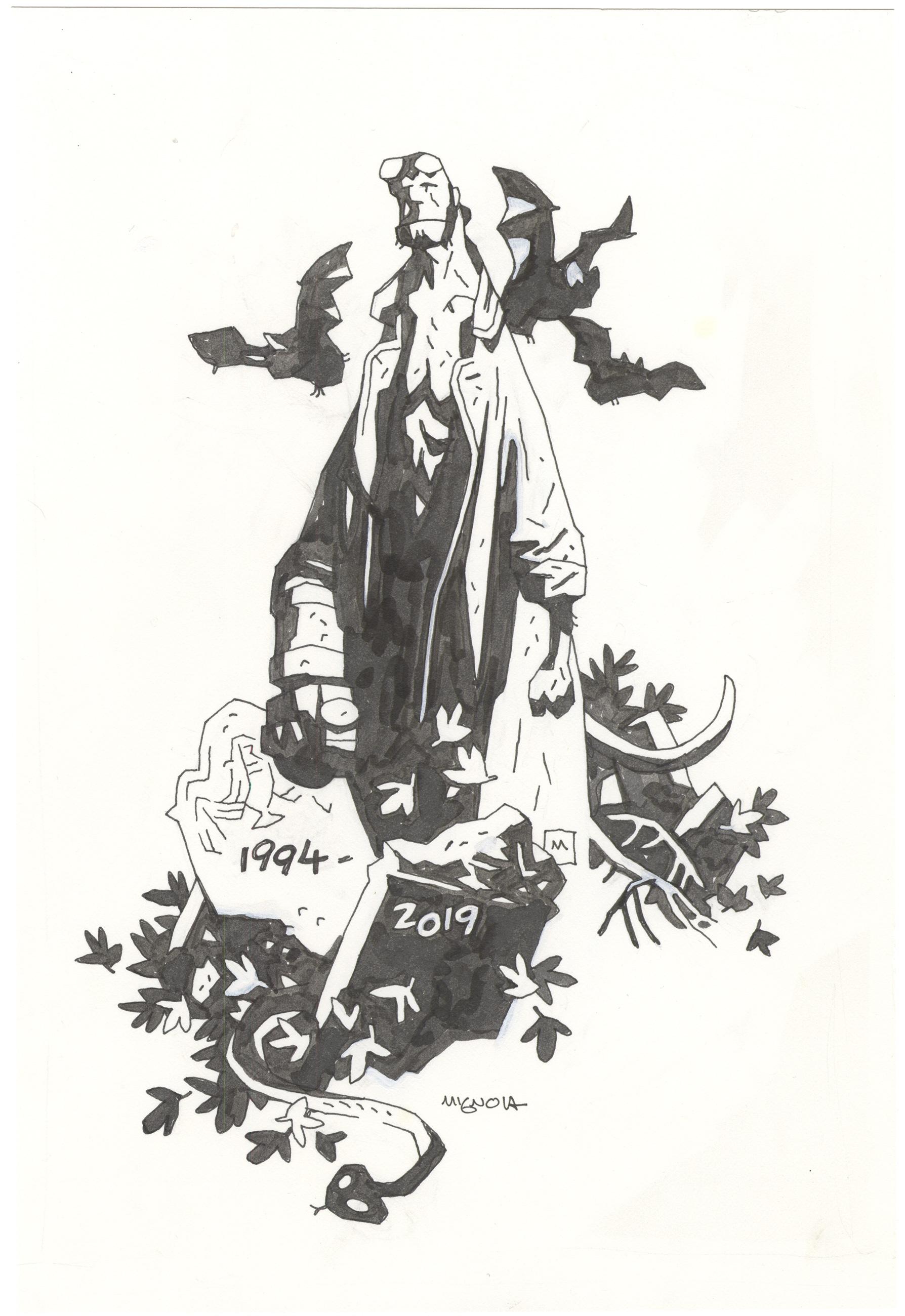 Hellboy Sketch - 25 year Anniversary