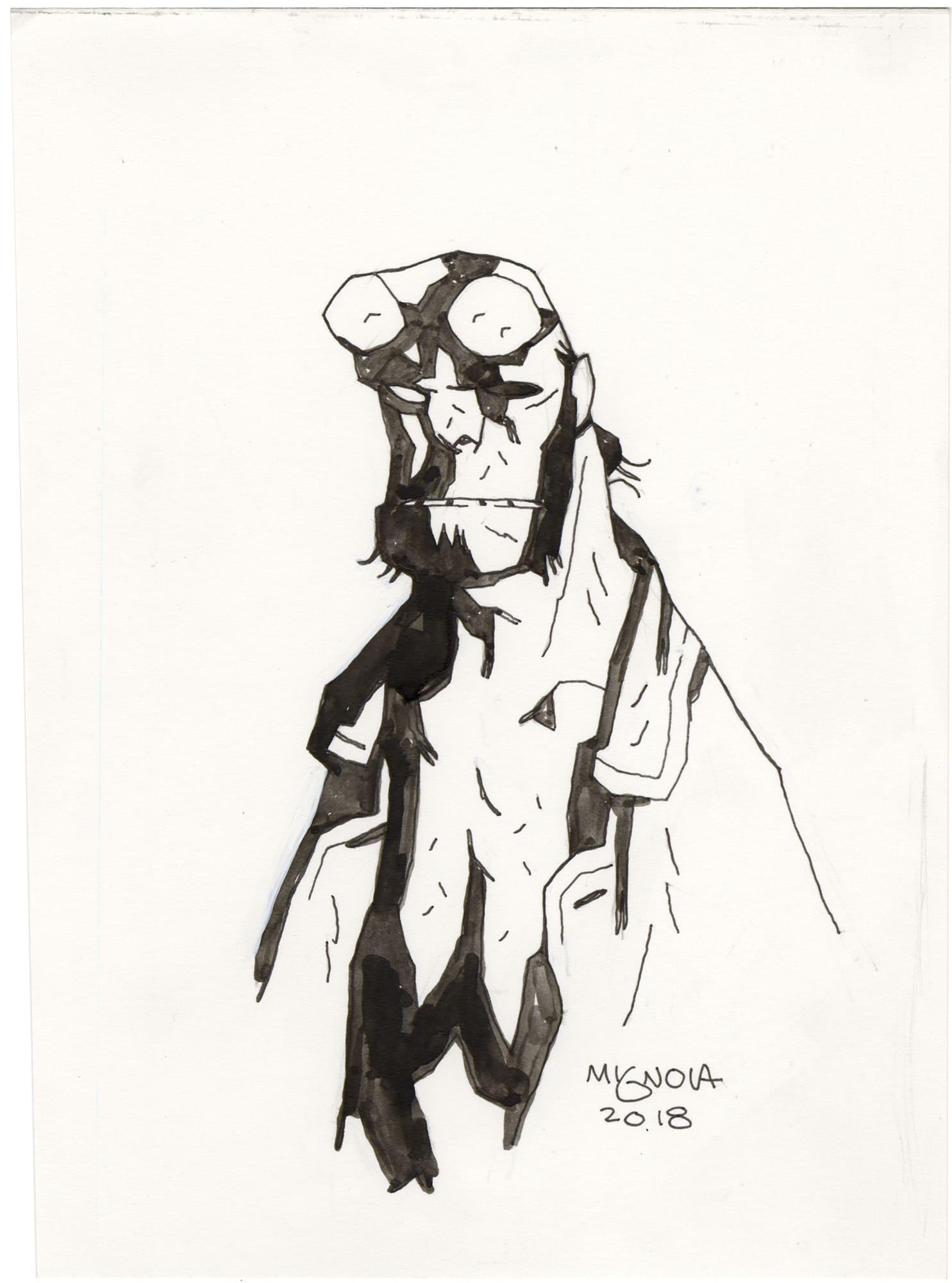 Mike Mignola Hellboy Sketch #8
