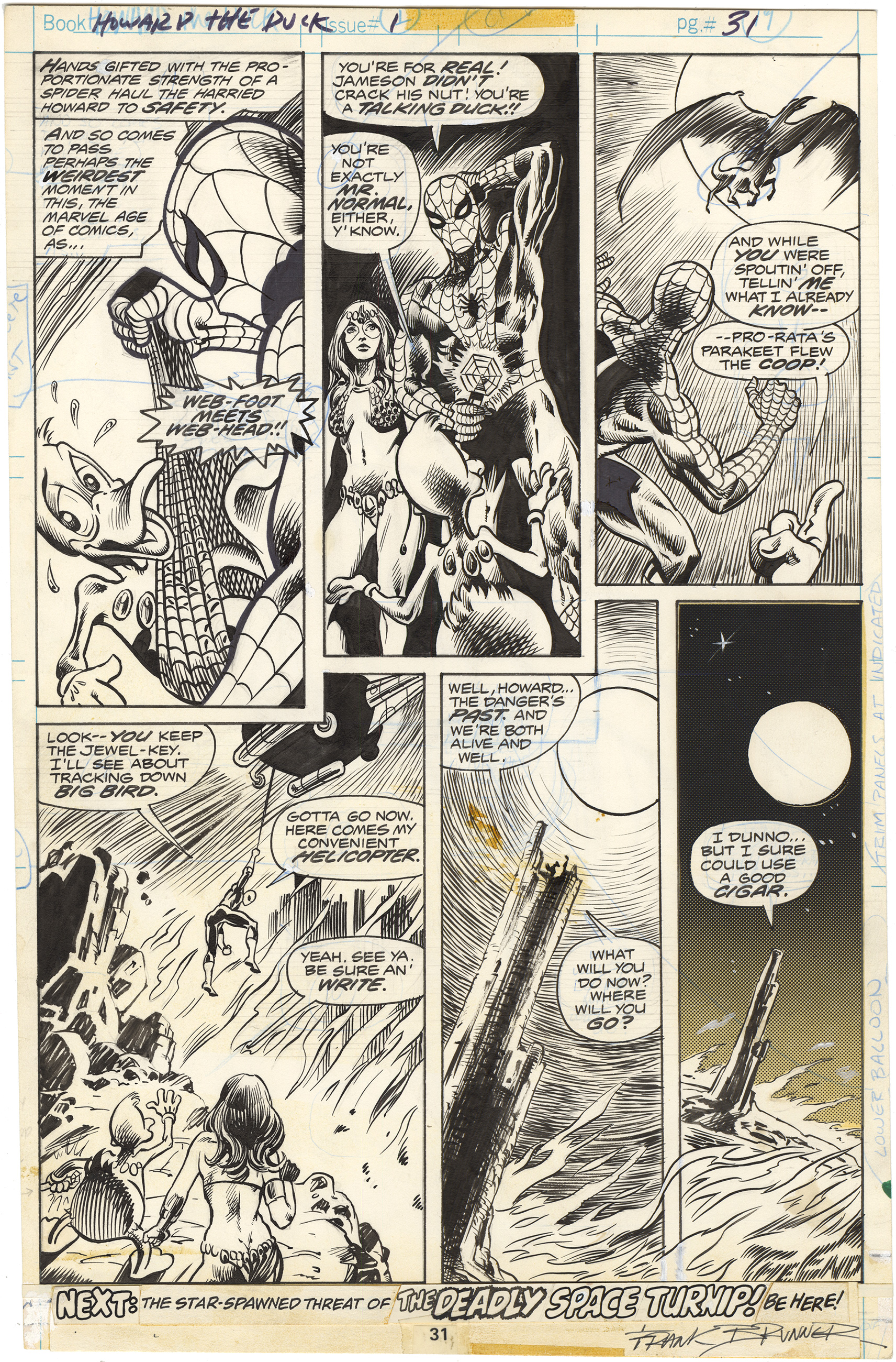 Howard The Duck #1 p31 (Signed)
