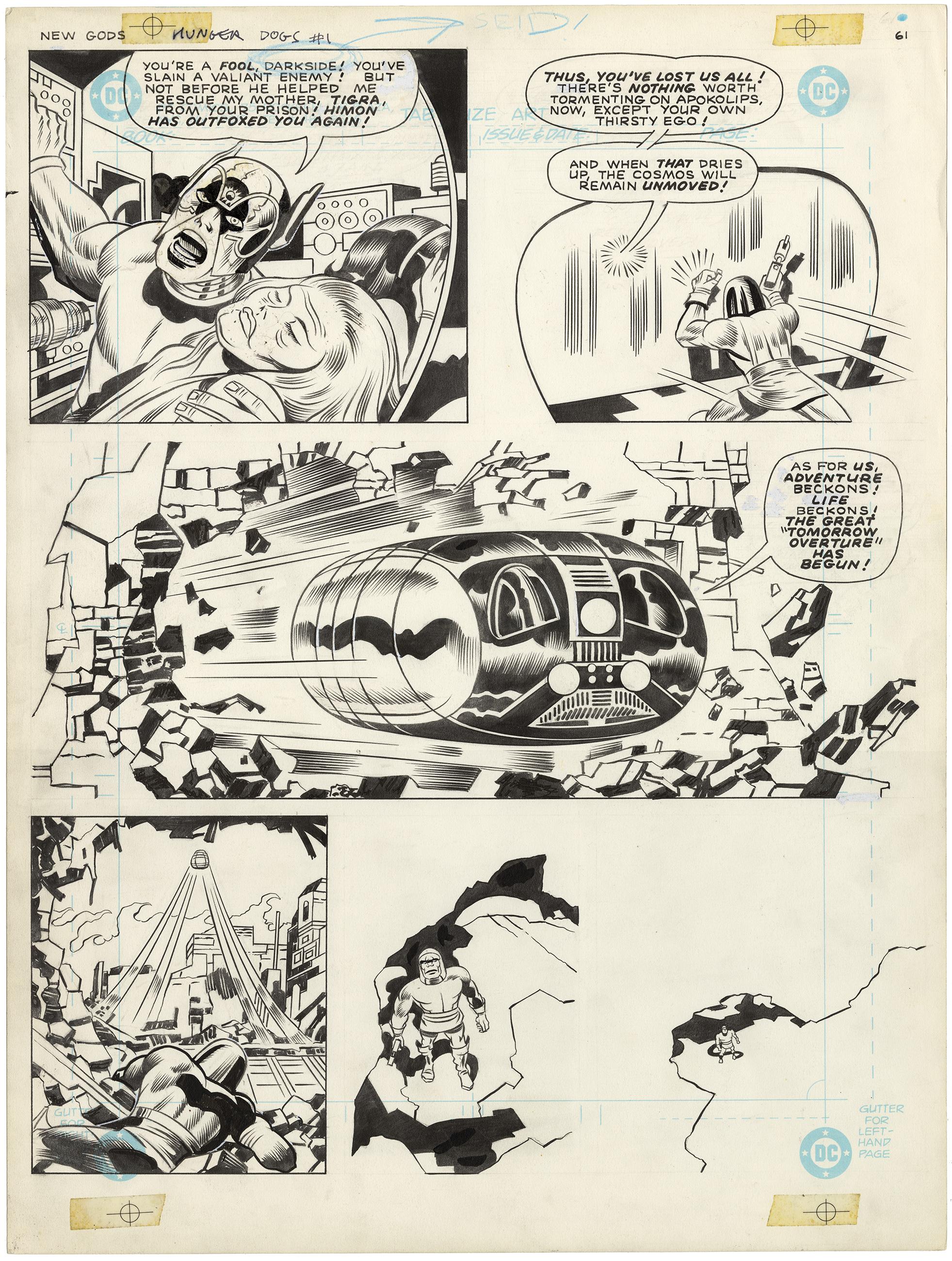 DC Graphic Novel - New Gods - Hunger Dogs (Large Art)