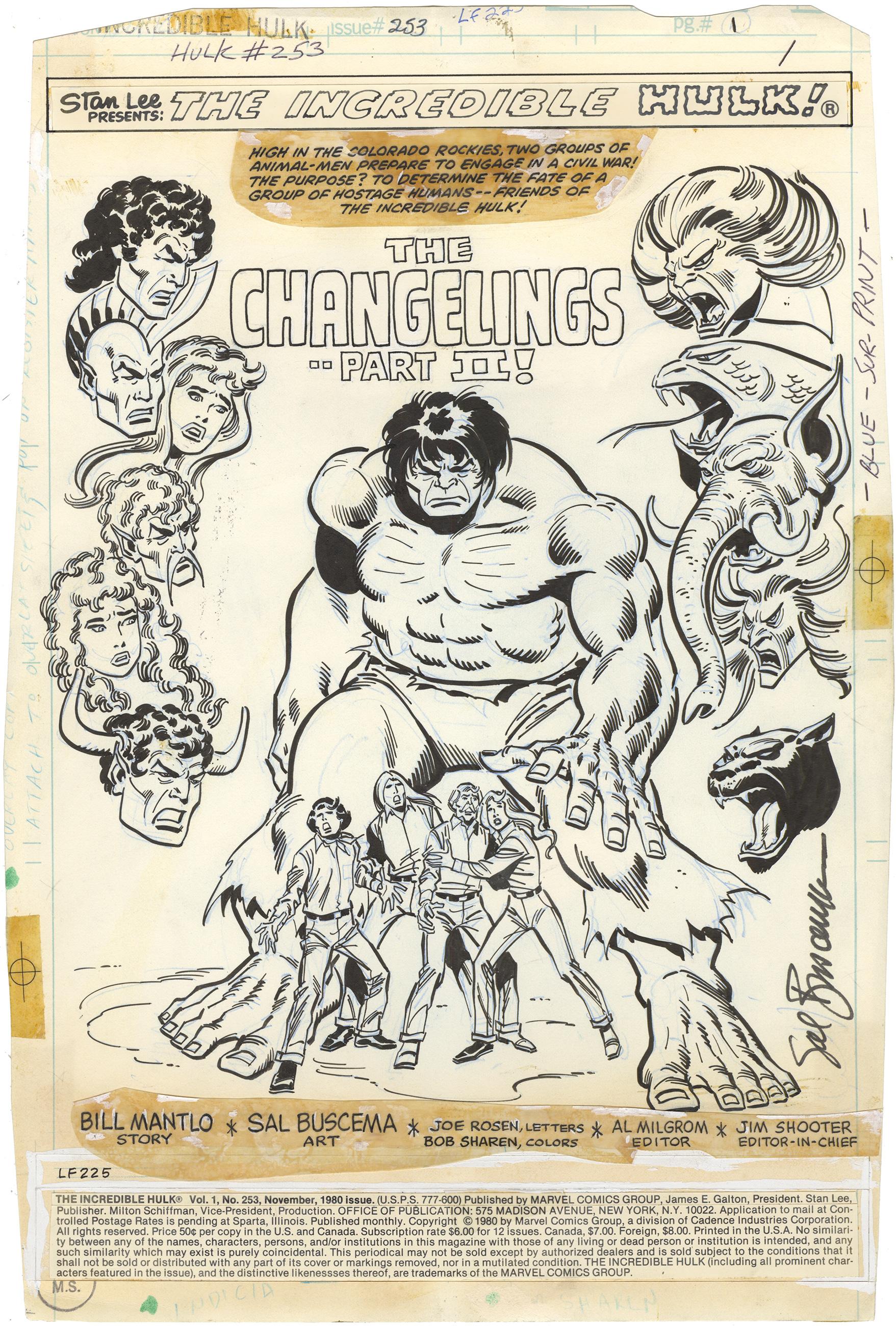 Incredible Hulk #253 p1 (Signed)