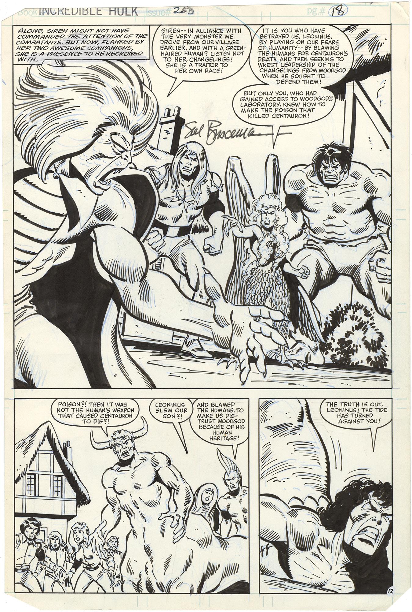 Incredible Hulk #253 p12 (Signed)