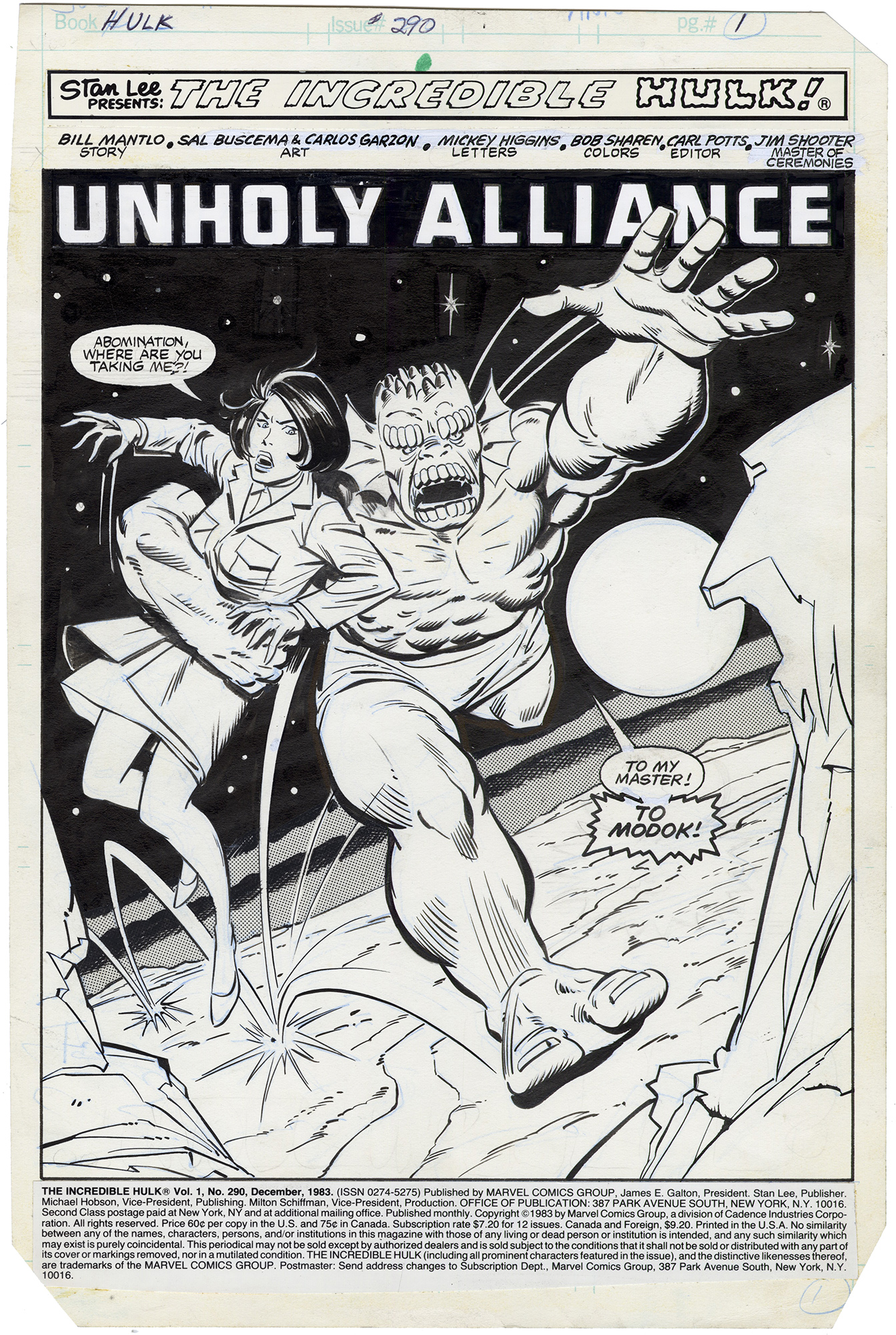 Incredible Hulk #290 p1