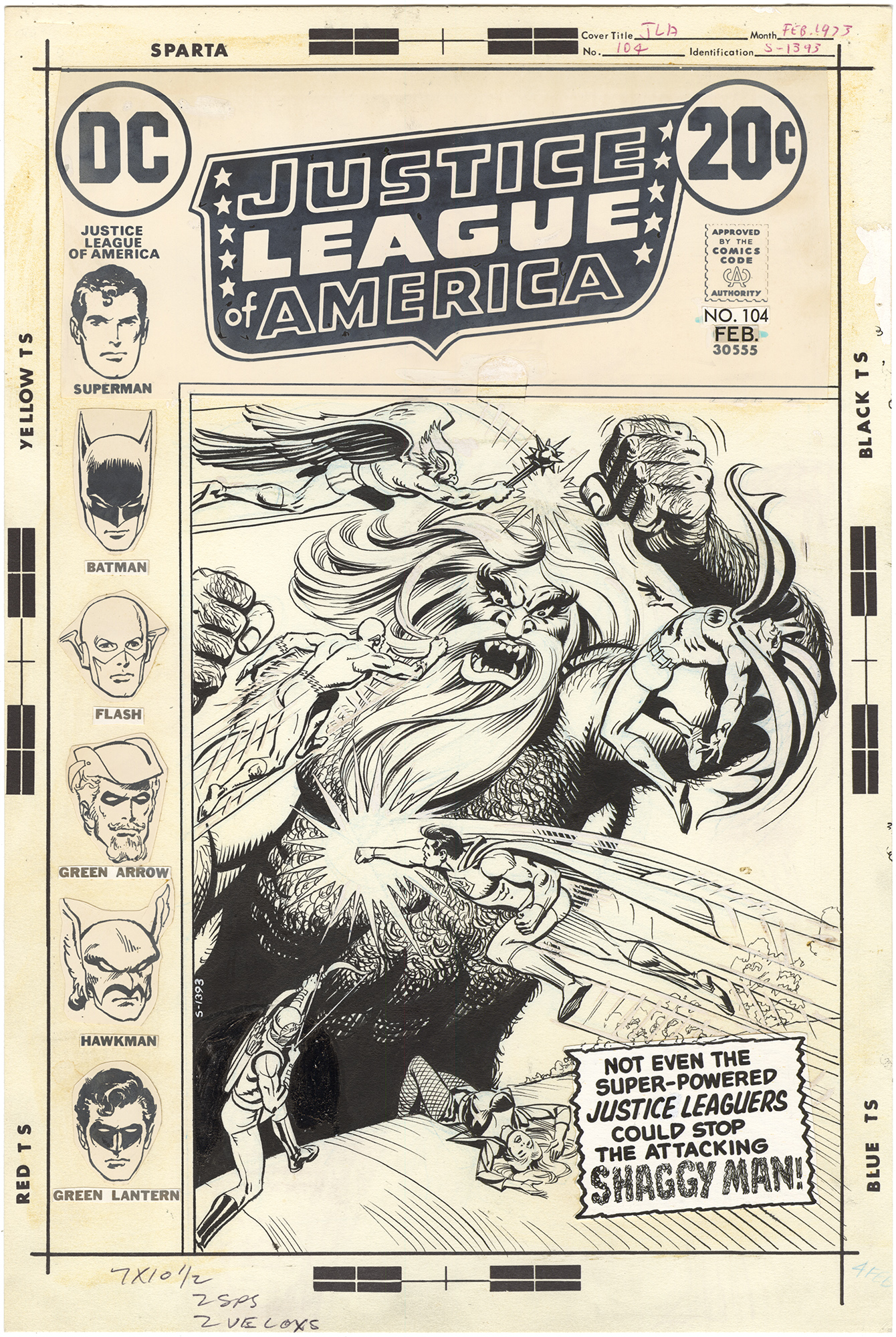 Justice League of America #104 Cover