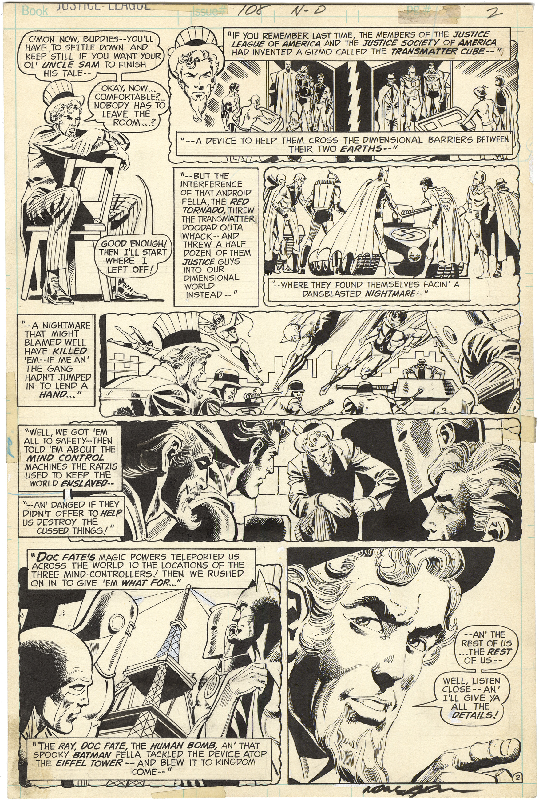 Justice League of America #108 p2 (Signed)