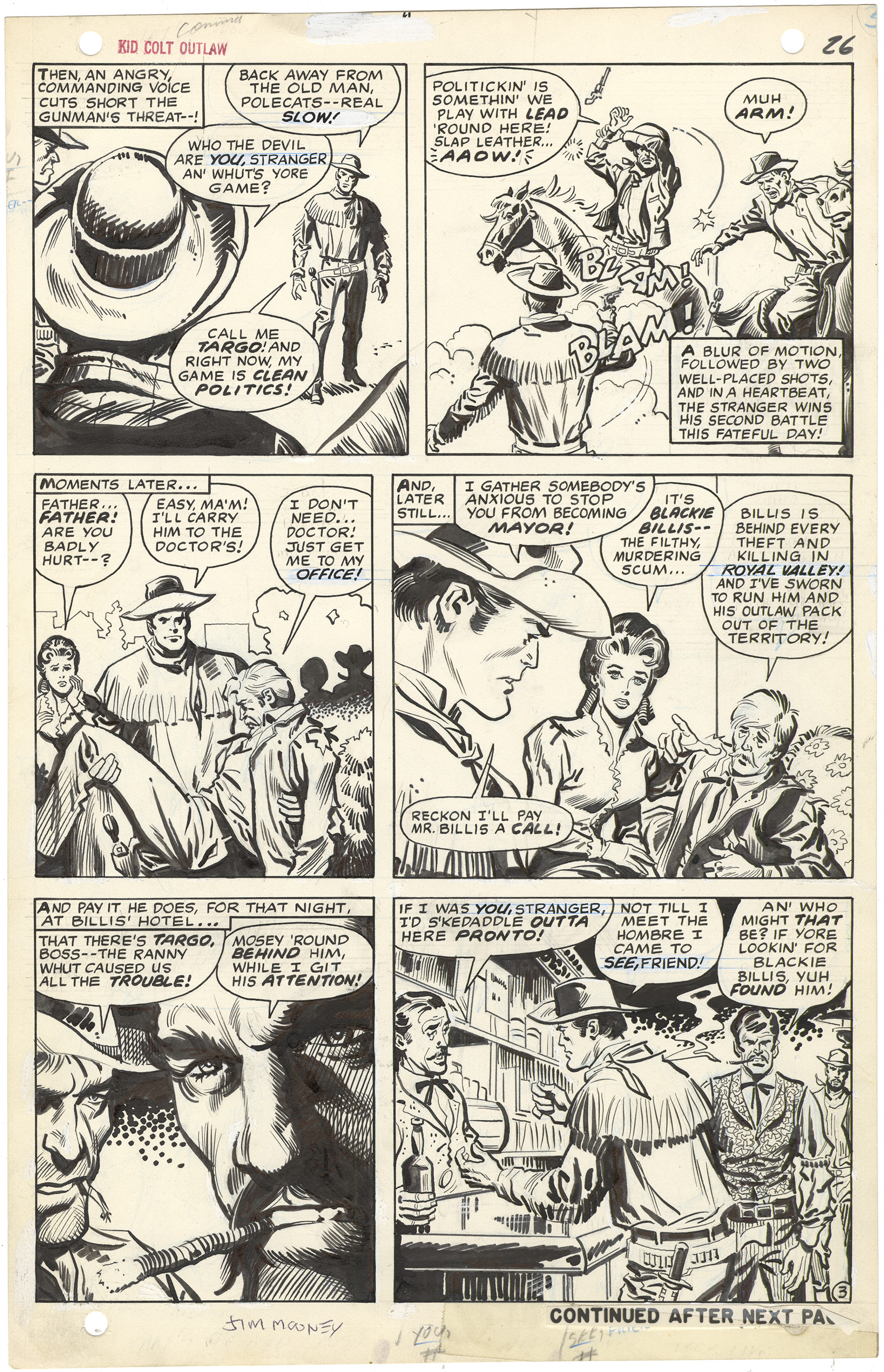 Kid Colt Outlaw #139 p3 (Signed)