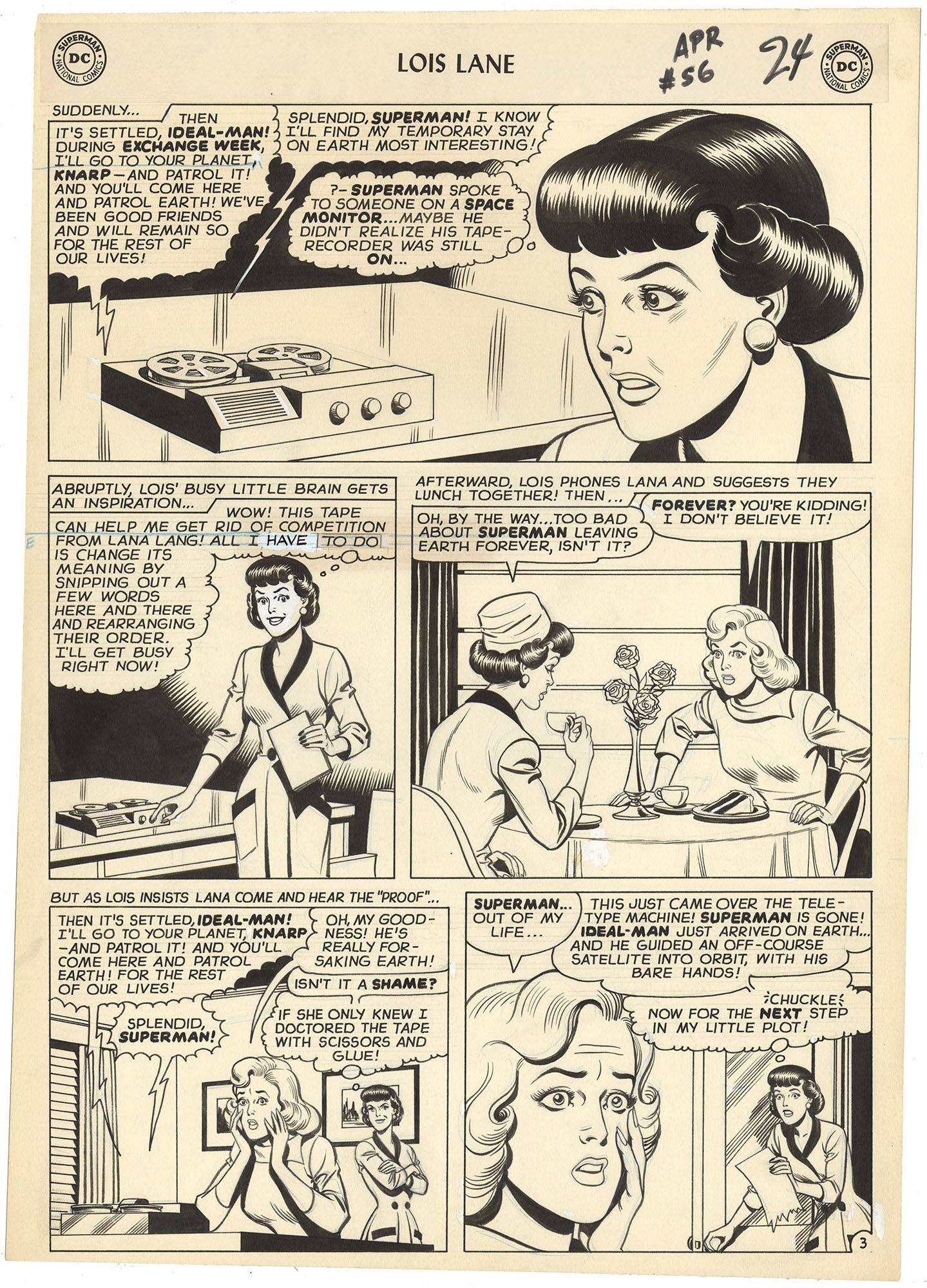 Superman's Girl Friend Lois Lane #56 p3 (Large Art)