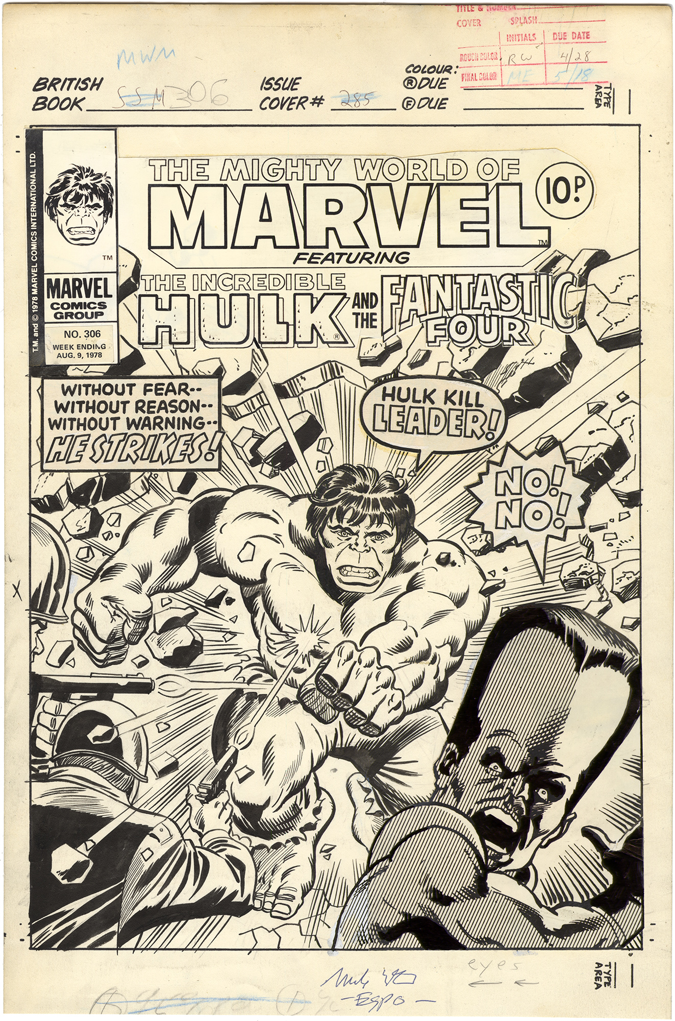 Mighty World of Marvel #306 Cover