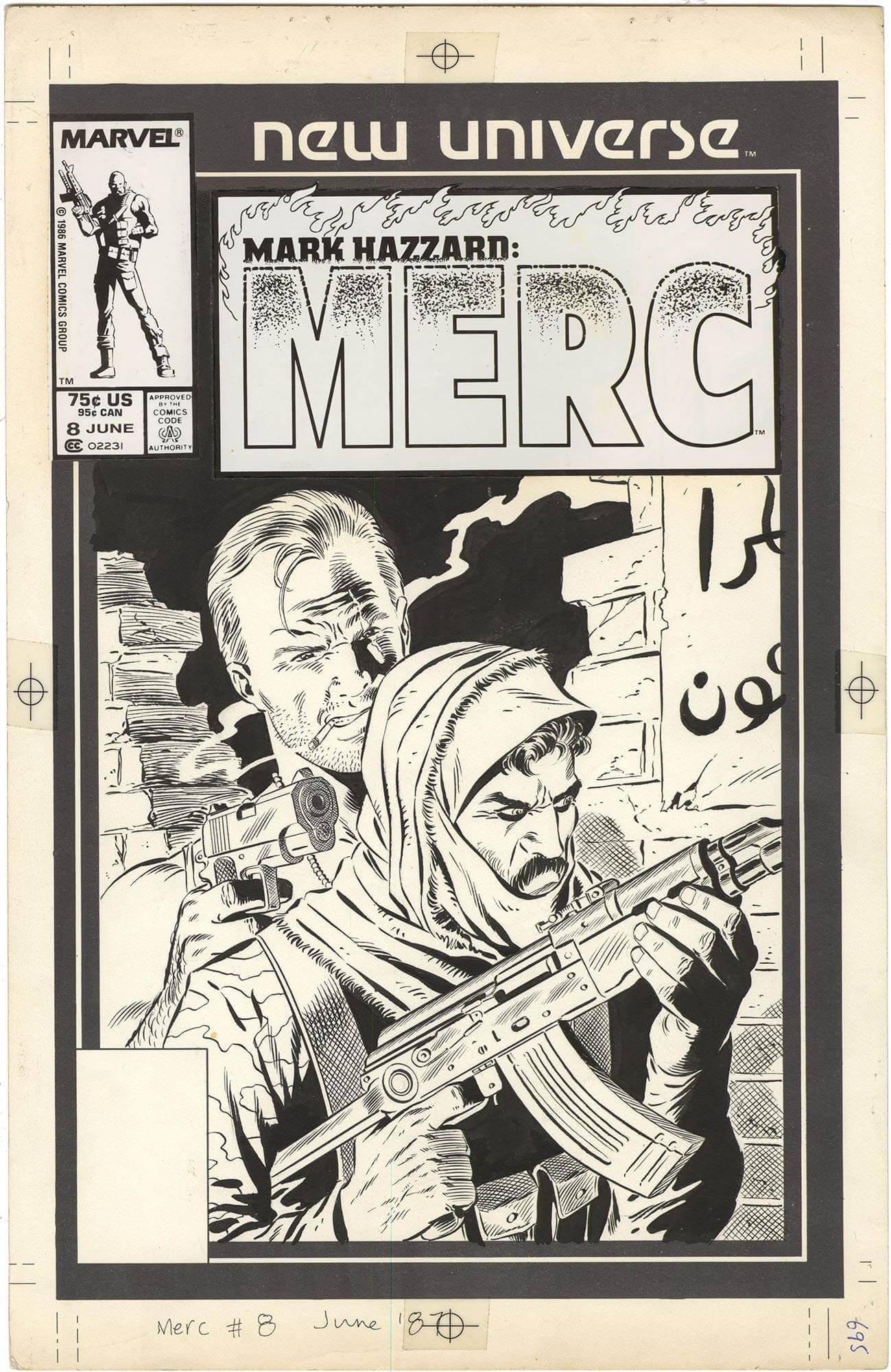 Mark Hazzard: Merc #8 Cover (Looks like Punisher)