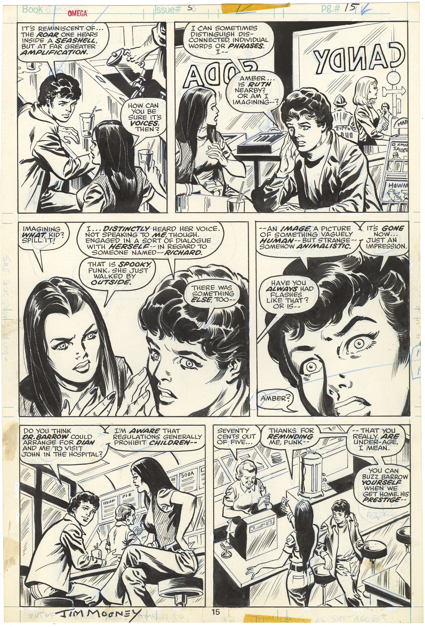 Omega the Unknown #5 p10 (Signed)