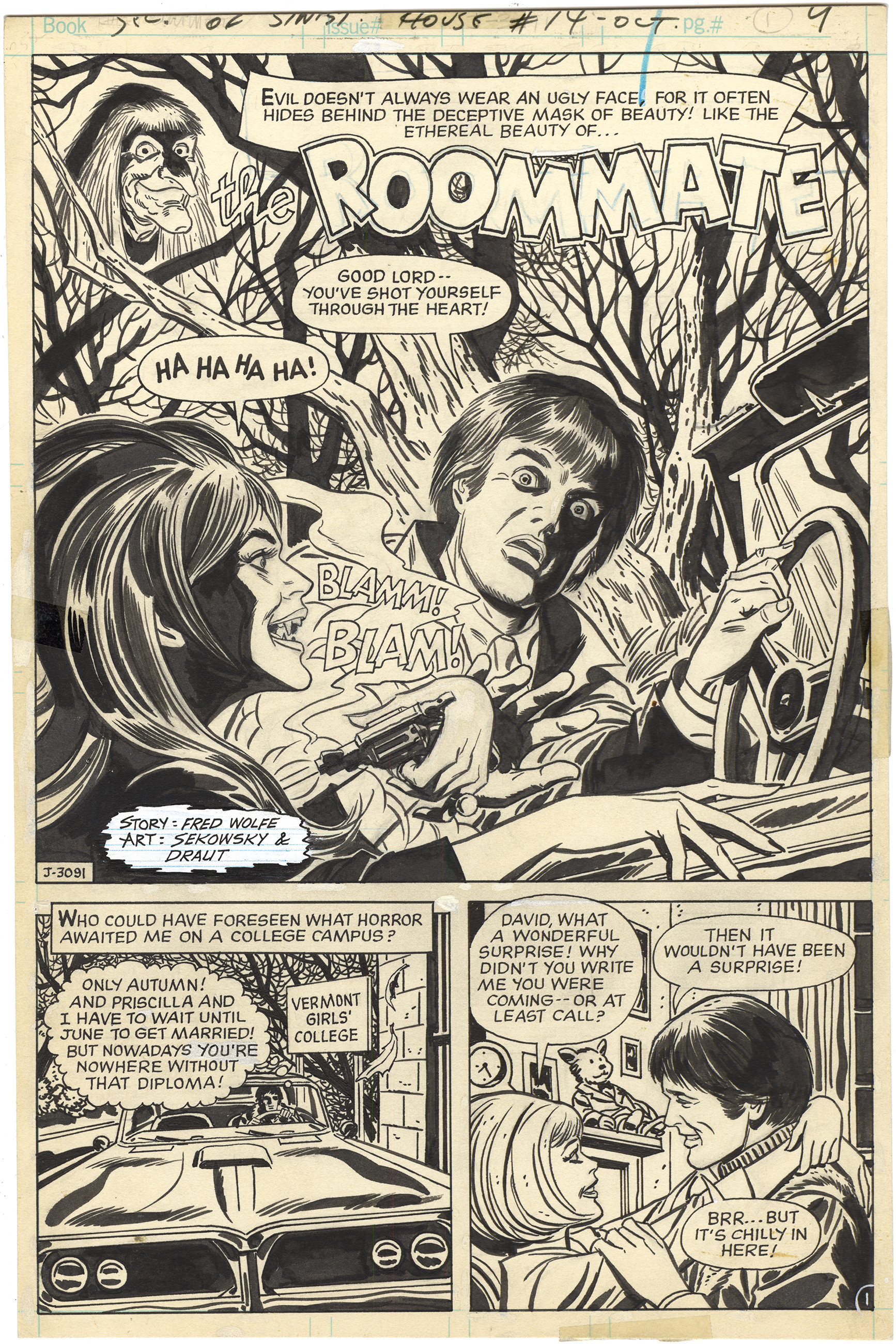 Secrets of Sinister House #14 p1 (Splash)