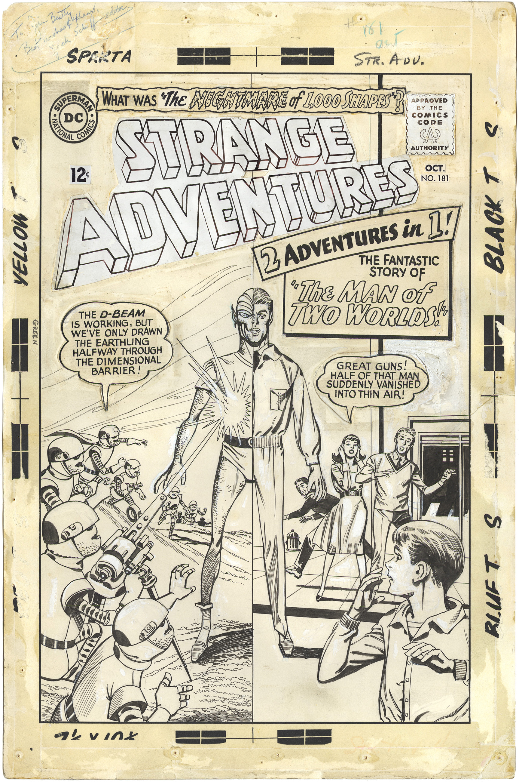 Strange Adventure #181 Cover