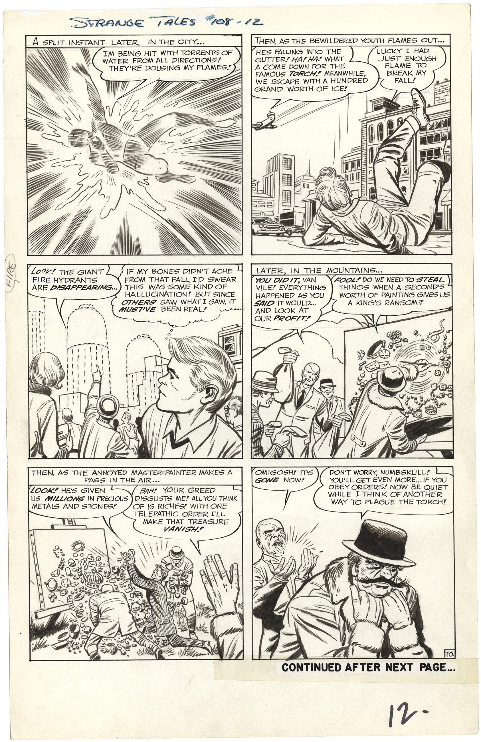 Strange Tales #108 p10 (Large Art)