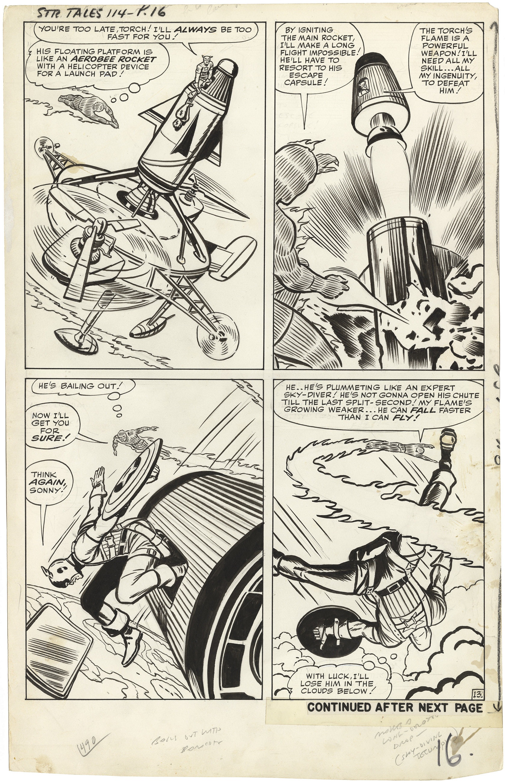 Strange Tales #114 p13 (Large Art - First Cap)
