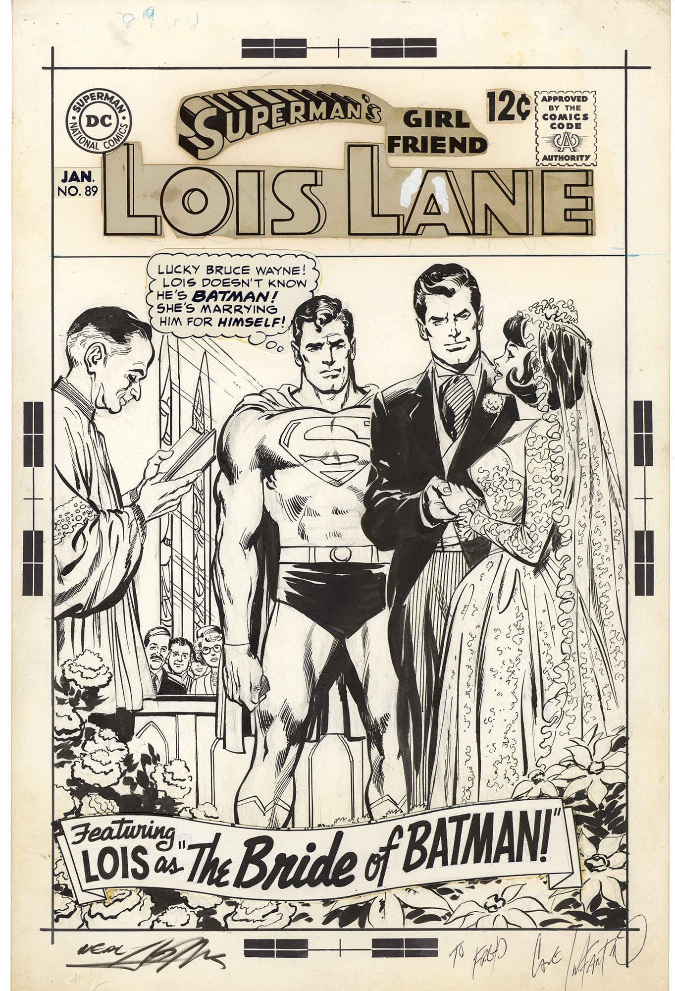 Superman's Girl Friend Lois Lane #89 Cover (Neal Adams)