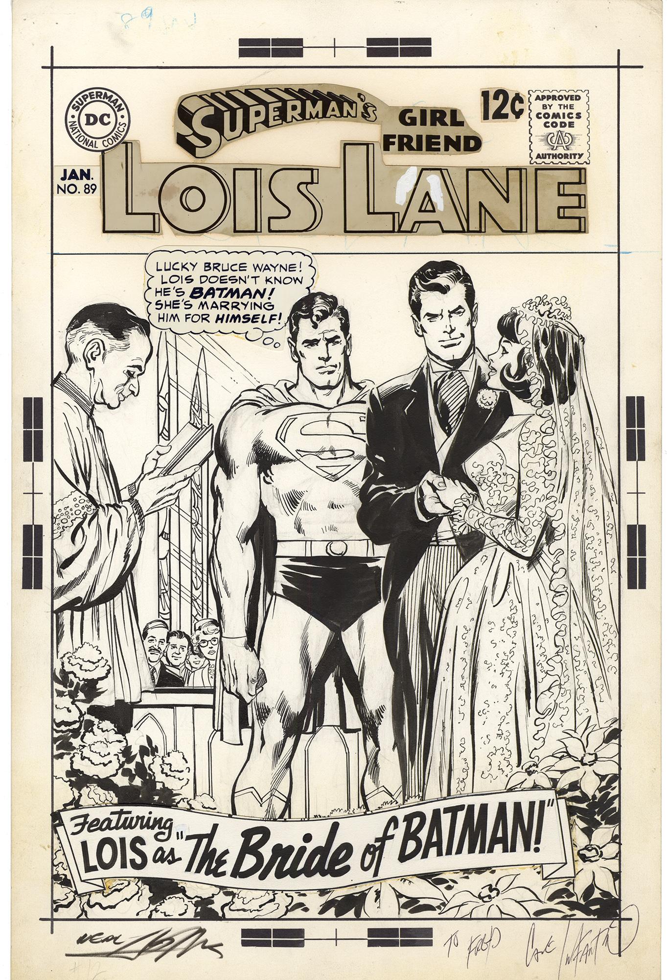 Superman's Girl Friend Lois Lane #89 Cover (Neal Adams)