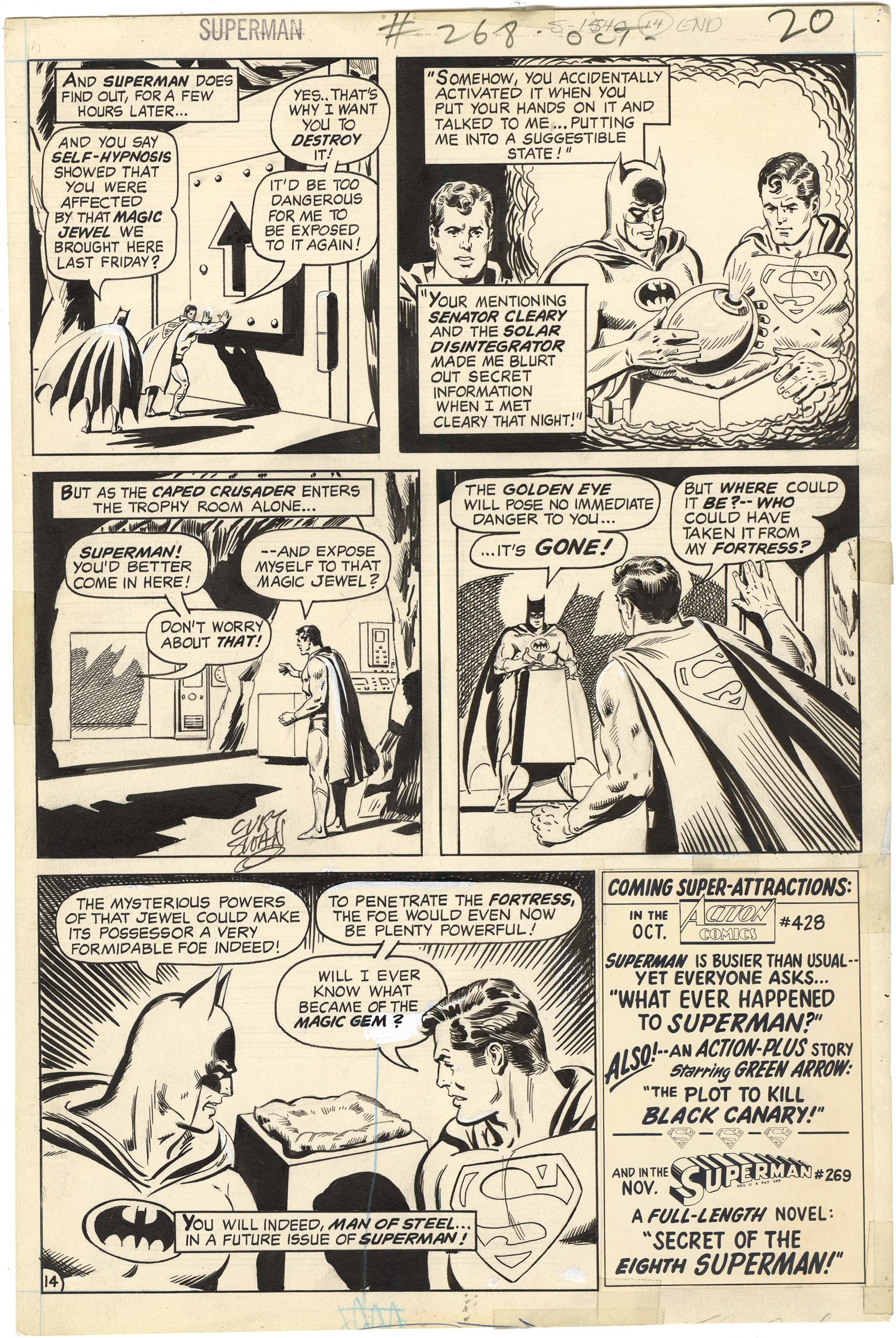 Superman #268 p14 (Signed)