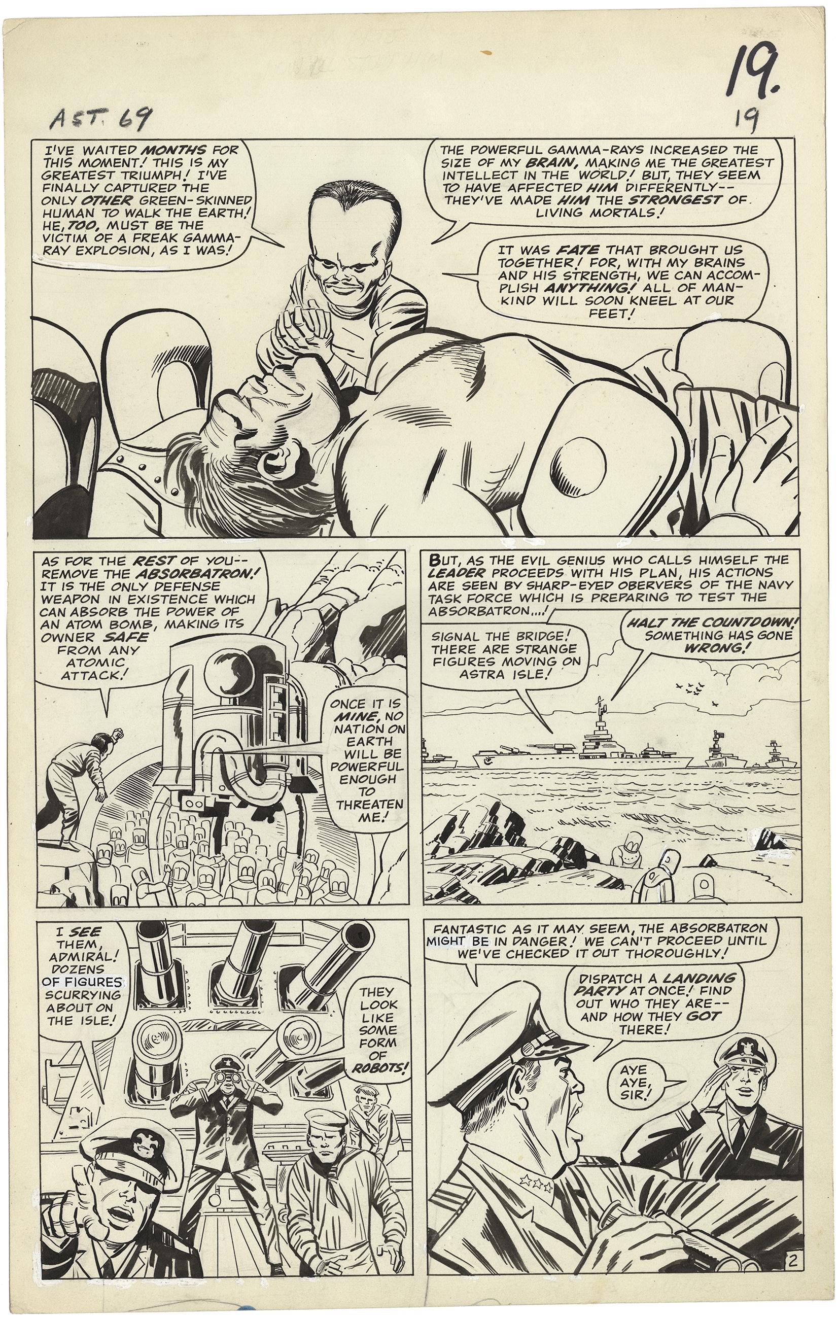 Tales to Astonish #69 p2 (Large Art)