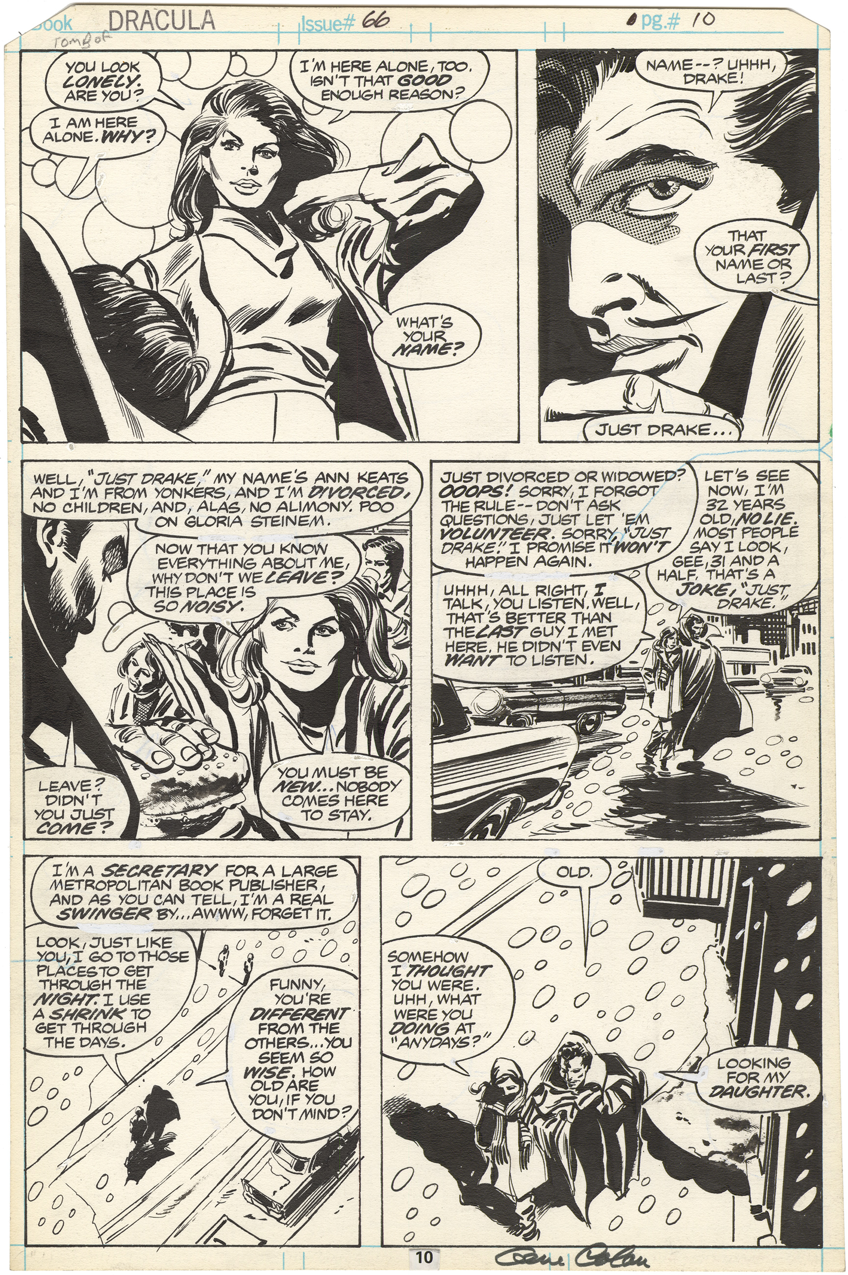 Tomb of Dracula #66 p10 (Signed)
