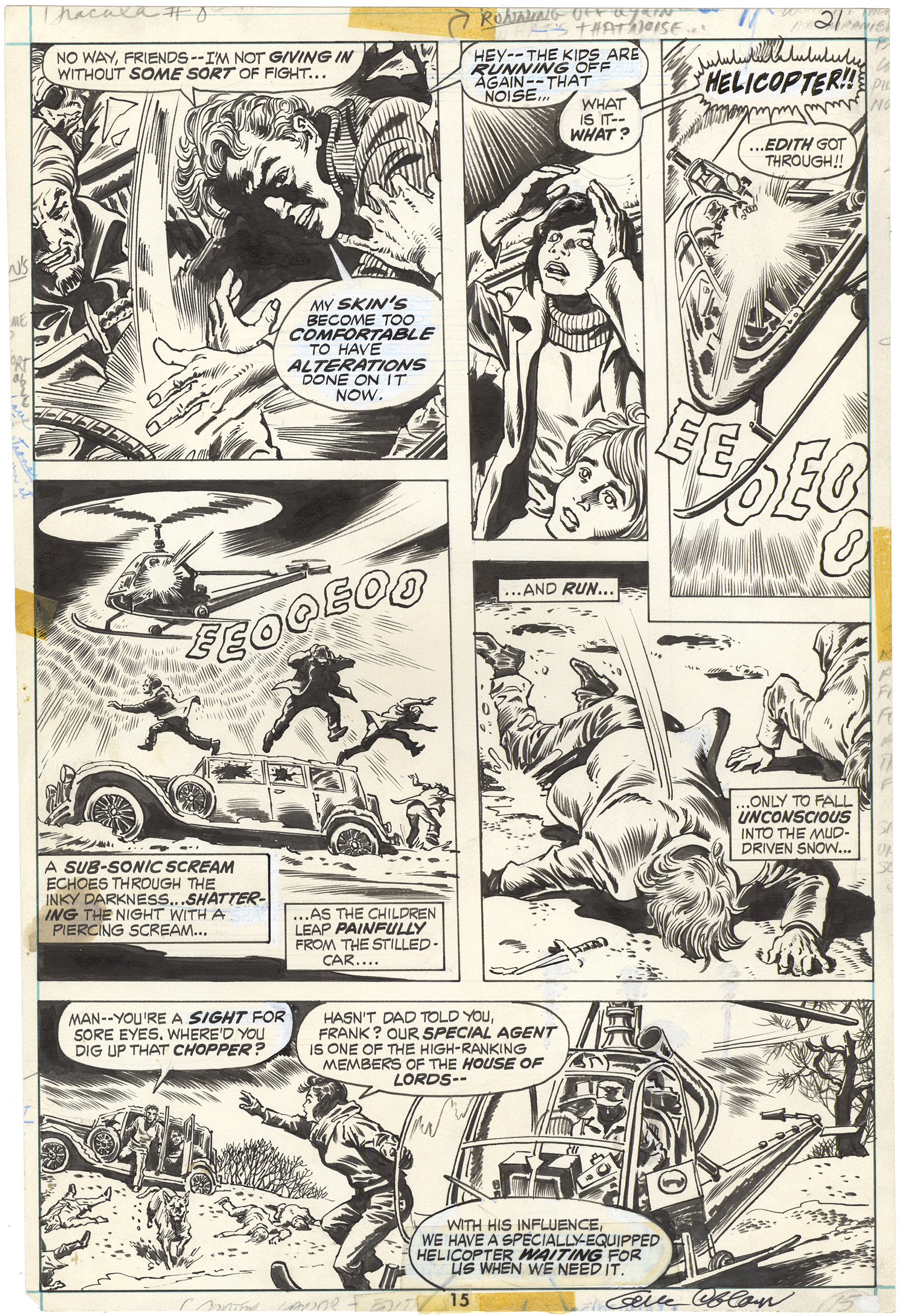 Tomb of Dracula #8 p15 (Signed)