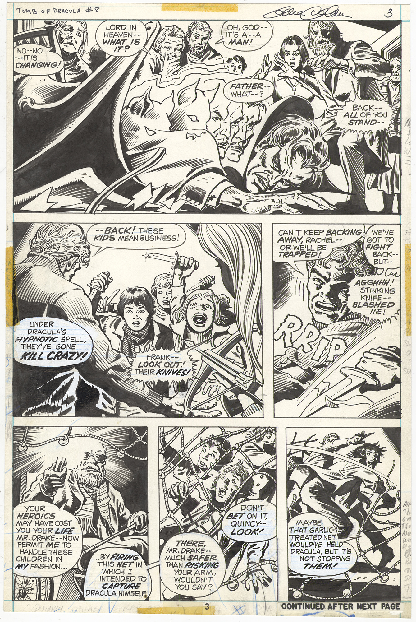 Tomb of Dracula #8 p3 (Signed)
