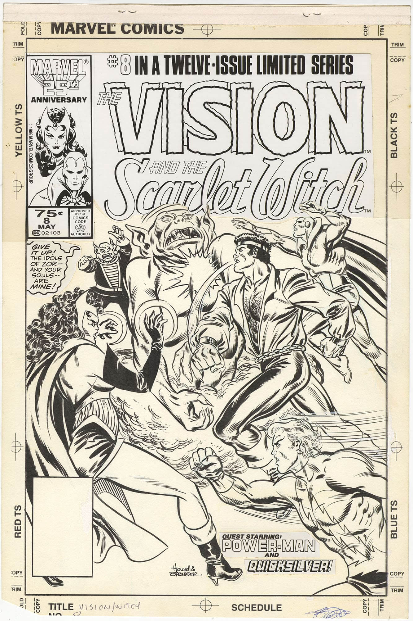 Vision and the Scarlet Witch #8 (Unused Cover)