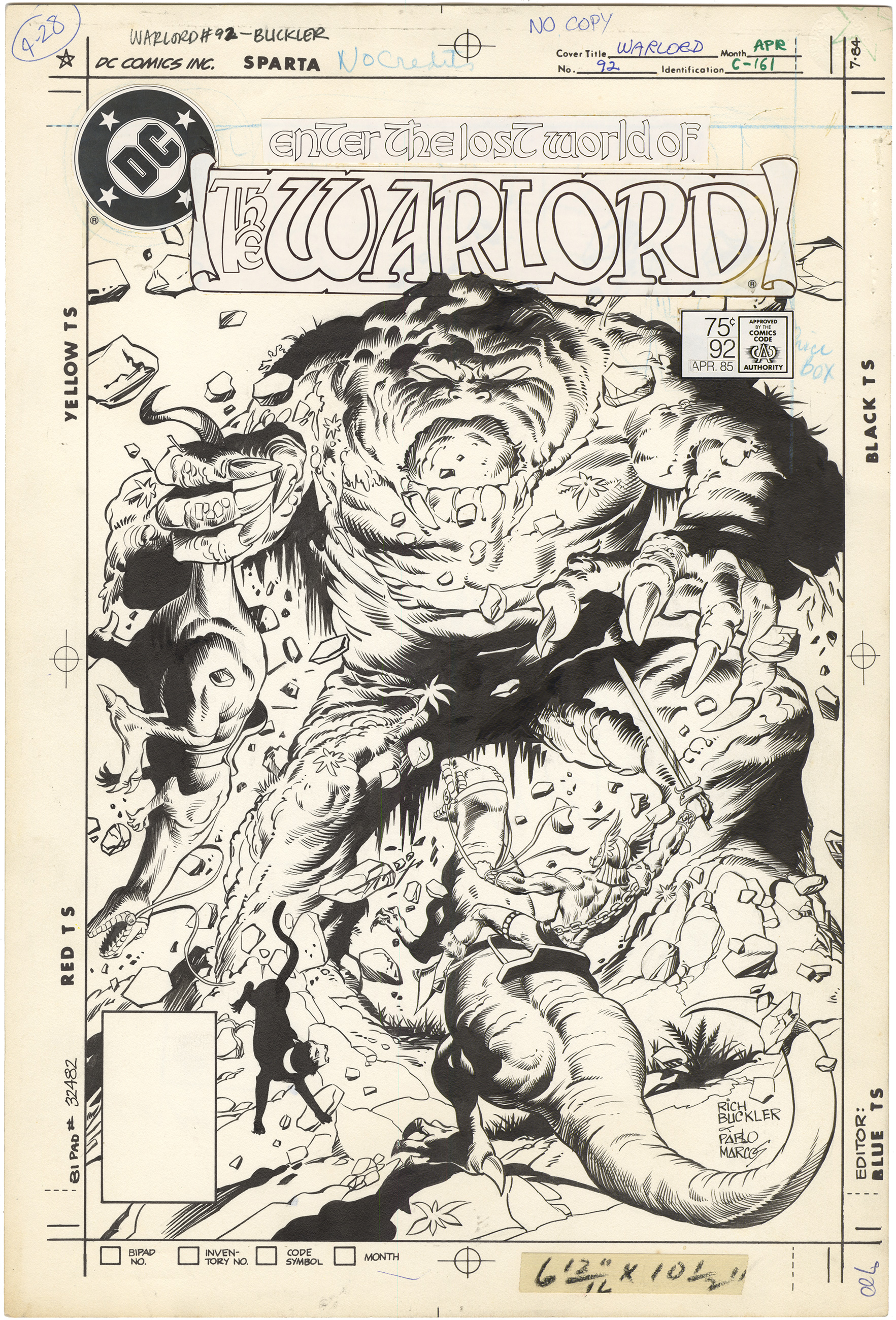 Warlord #92 Cover